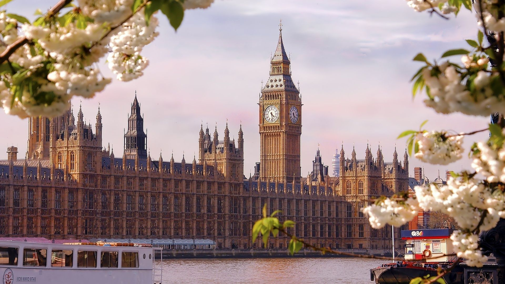 City, England, Houses Of Parliament, London, River