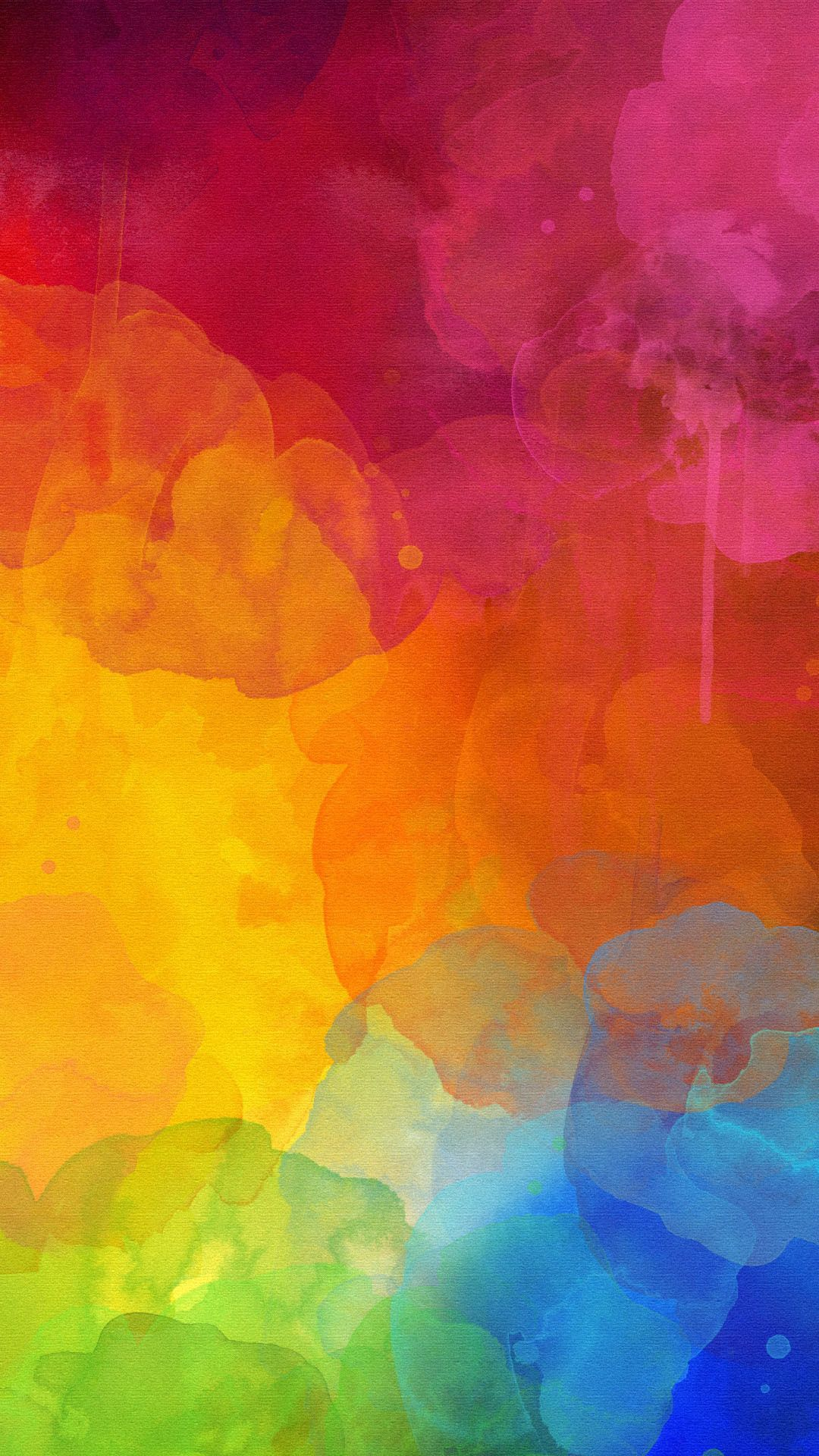 Colourful Watercolour Mark Color Of Rainbow In Abstract Wallpaper