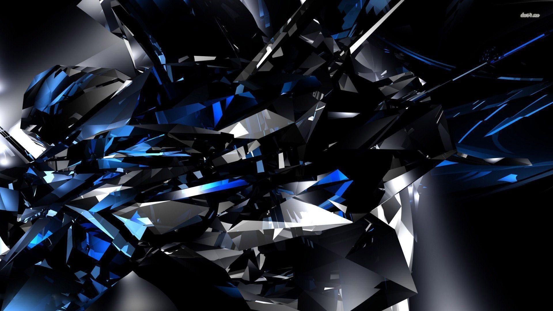 Crystals Wallpaper, 3 D Wallpaper