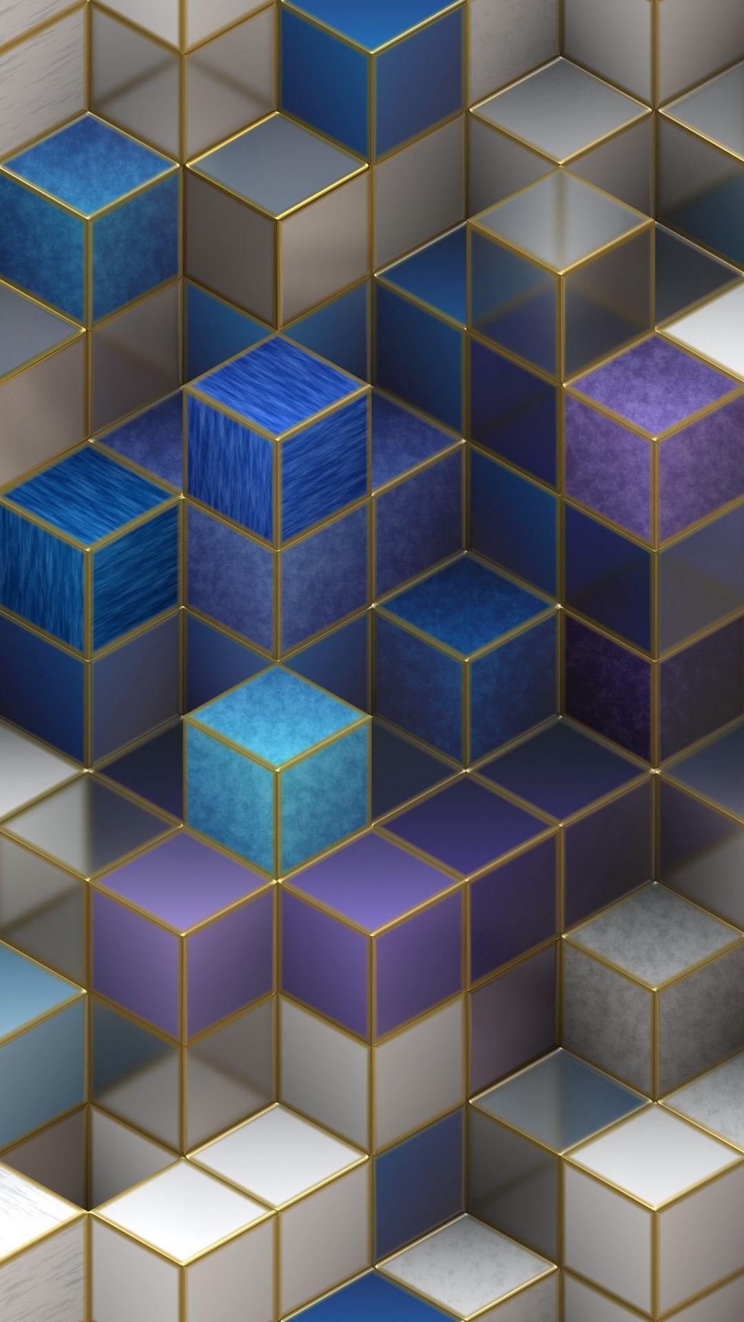 3D Cubes Metal Space Hd Wallpaper