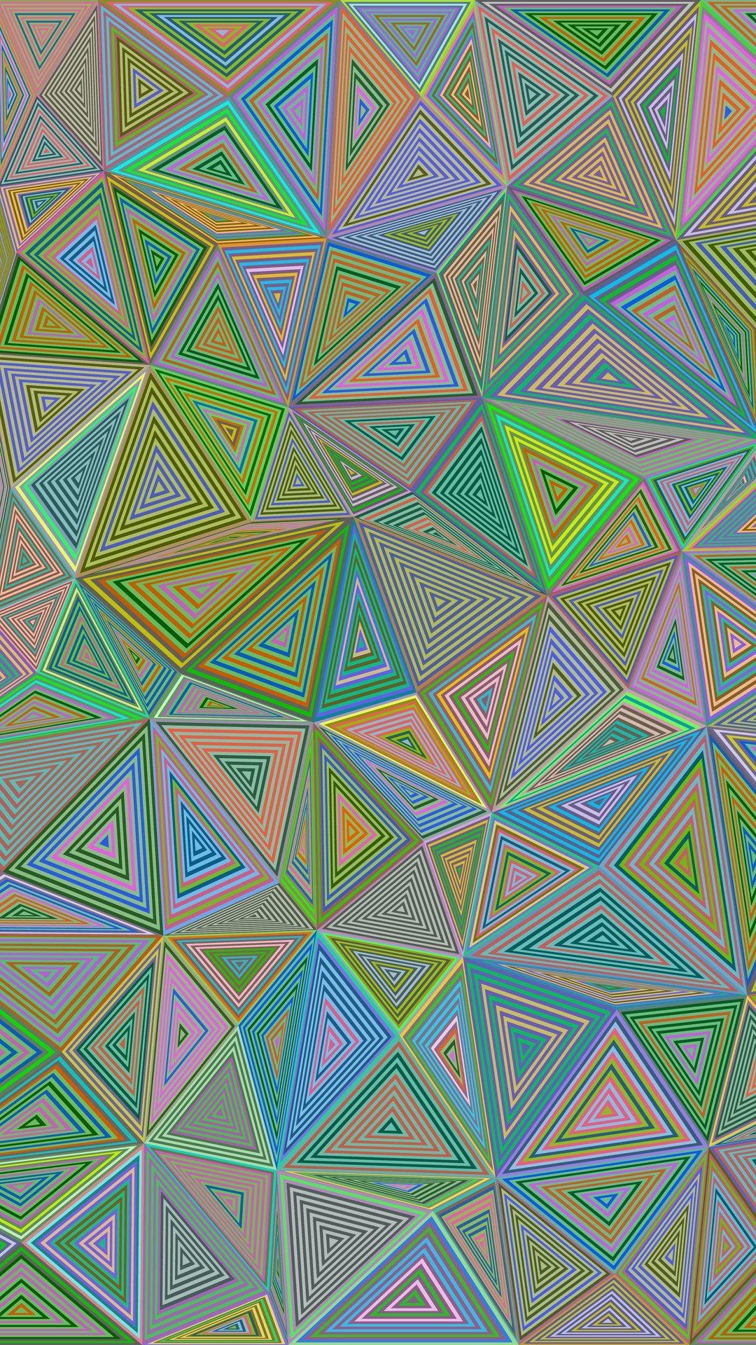 3D Polygon Triangle Illusion Hd Wallpaper