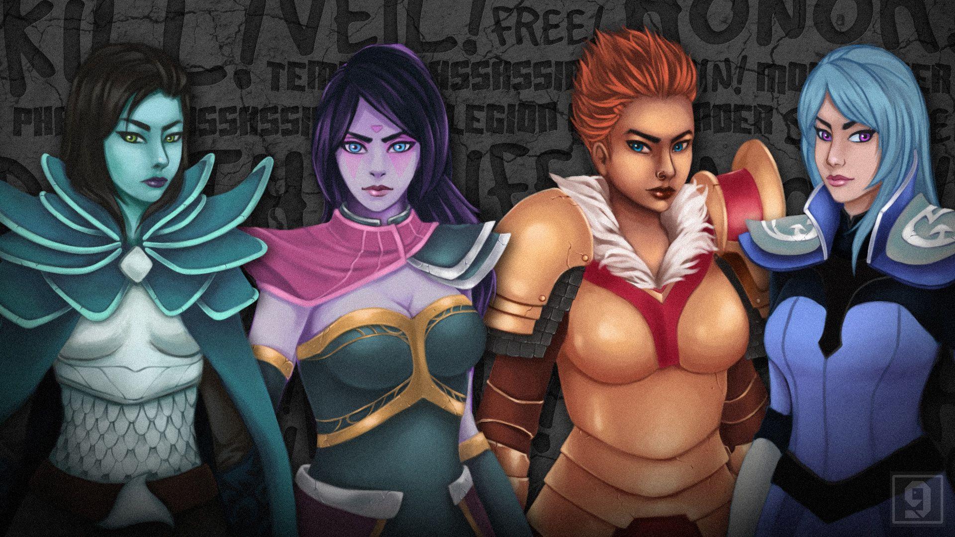 Dota Luna Воители Phantom Assassin Mortred Templar Assassin Lanaya Legion