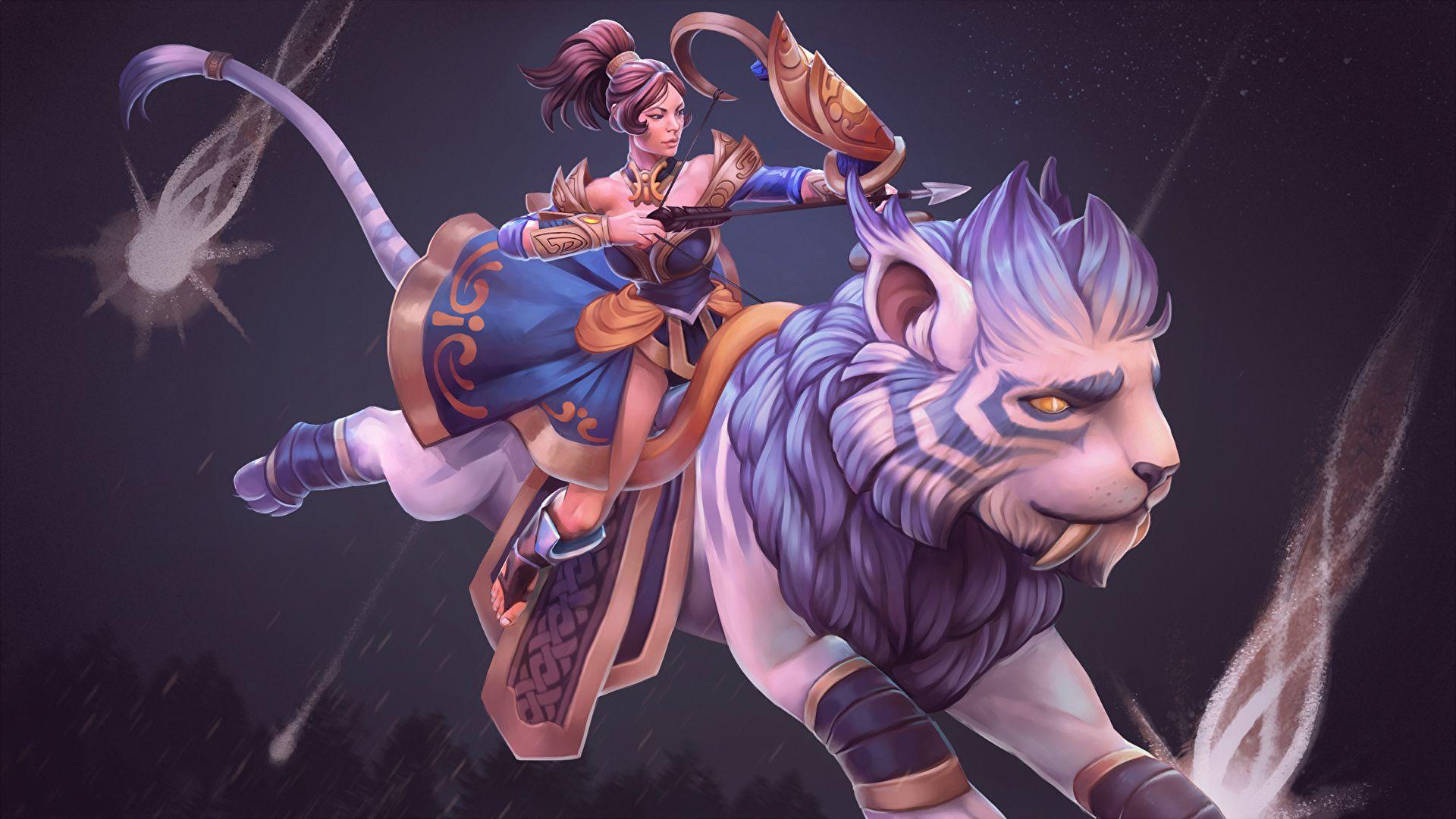 Dota Mirana Warriors Archers Games Fantasy Girls Photofantasy