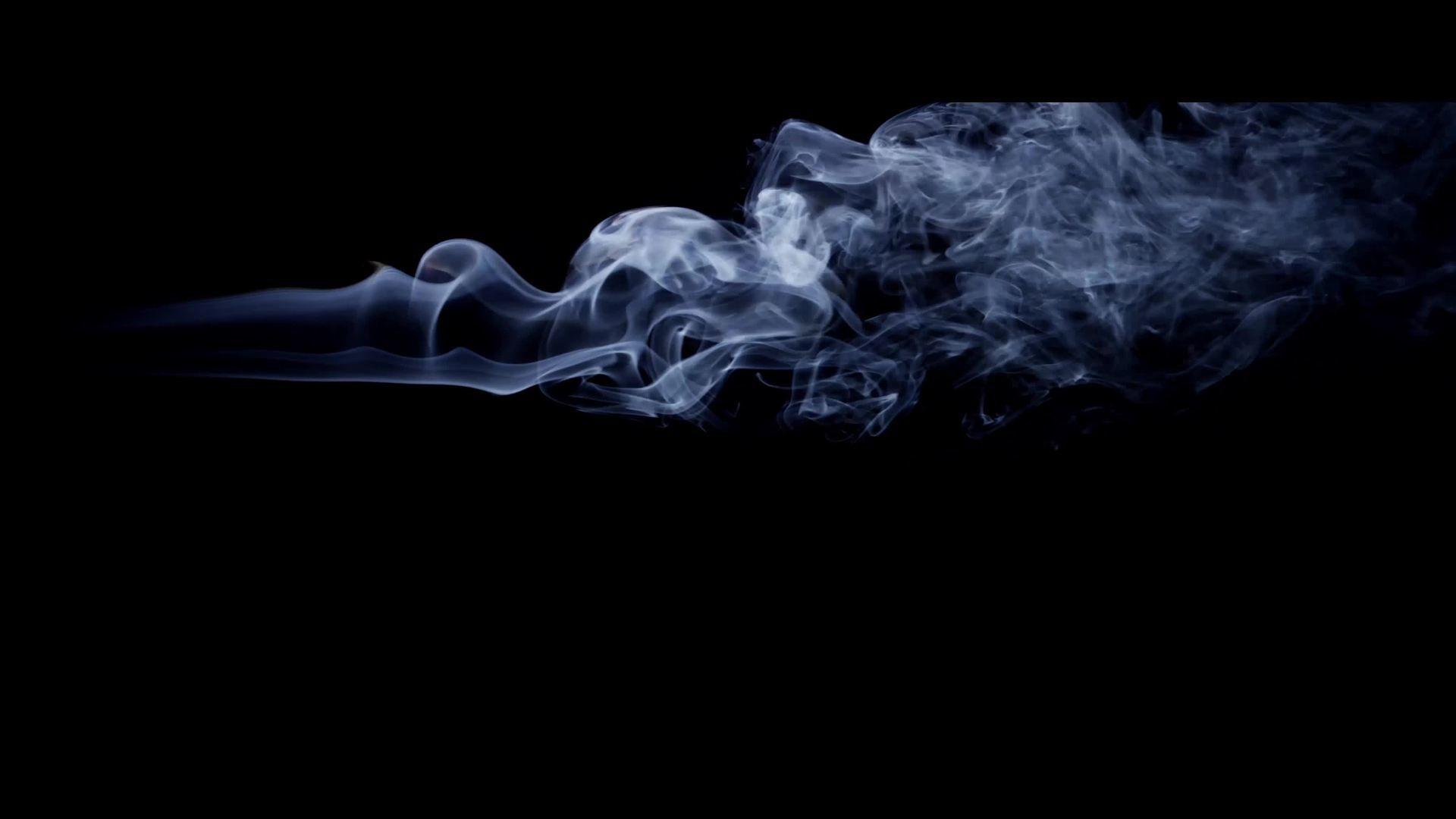 Dark Background With Smoke With Horizontal Path And Beautiful Swirls In K