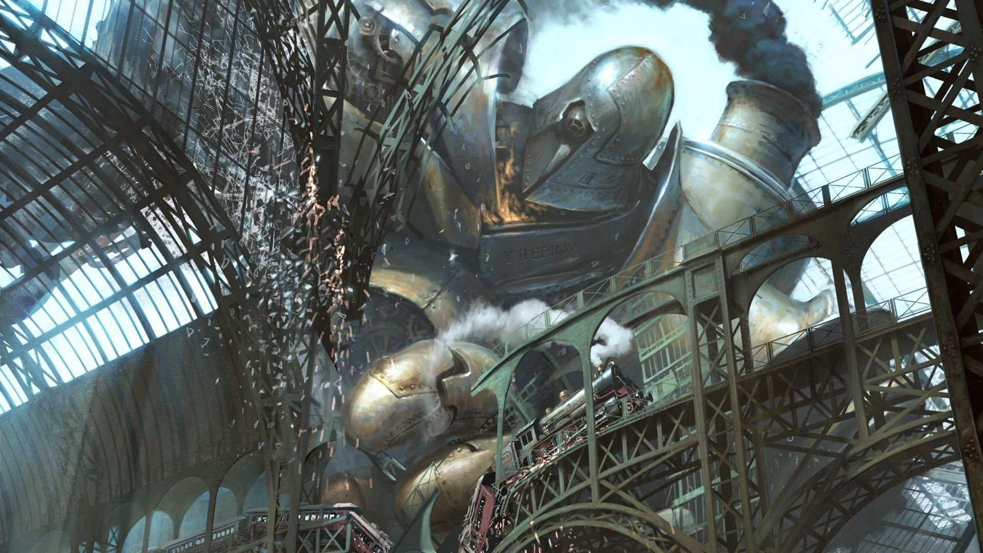 Download Robots Steampunk Wallpapers