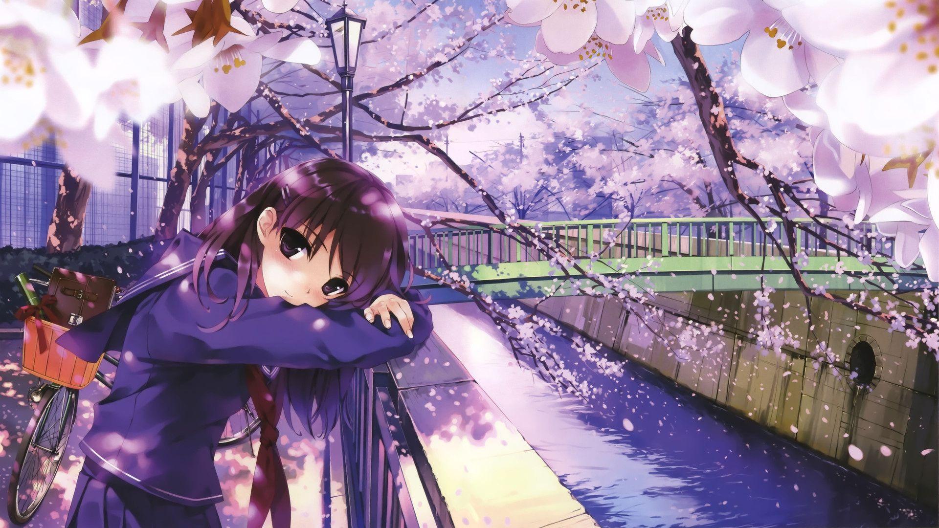 Download Wallpaper Branch, Illustrator, Spring, Blossom, Mei, Misa