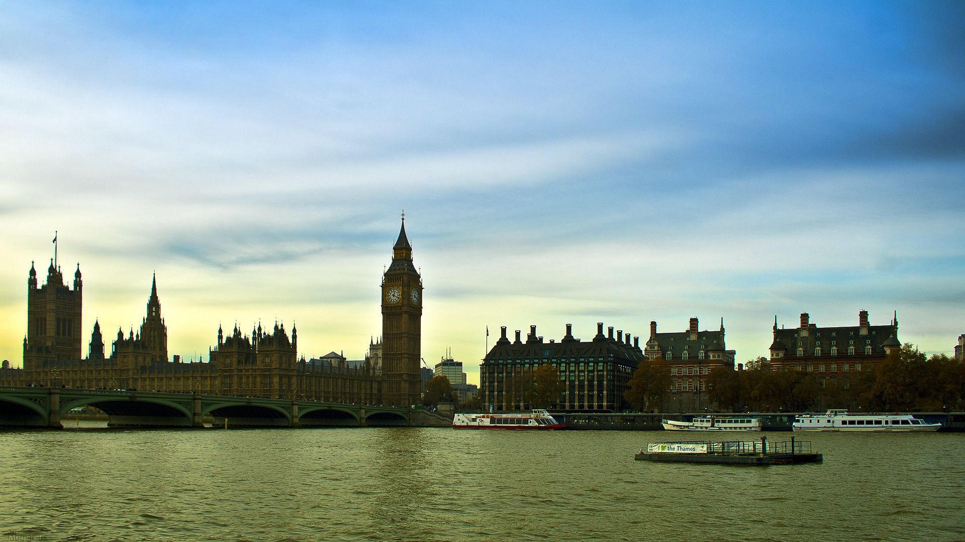 Download Wallpapers London, River Thames, England, Big Ben, London, Thames, England, Big