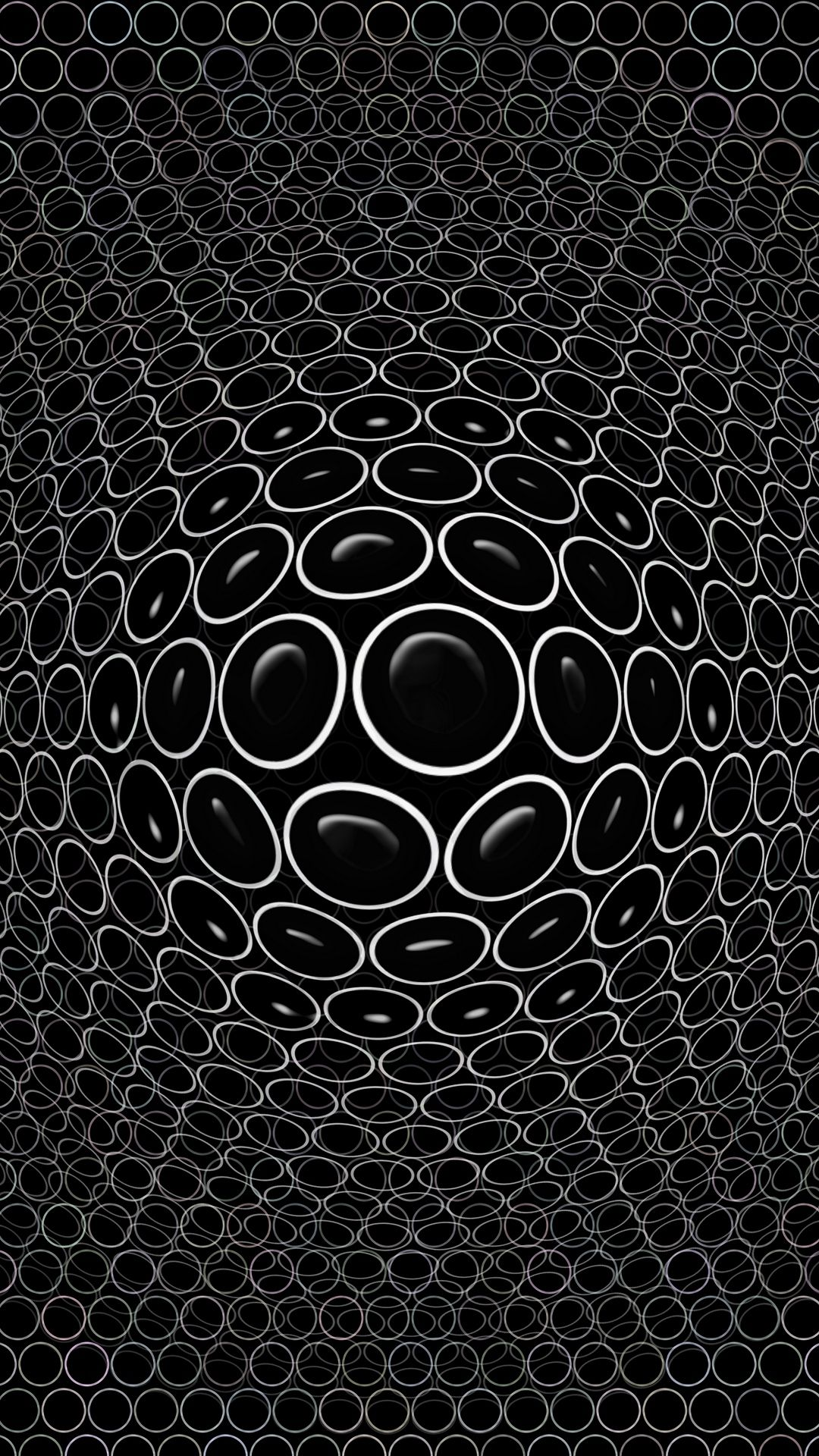 Download Convex, Embossed, Realistic, D, Circles, Black Wallpape