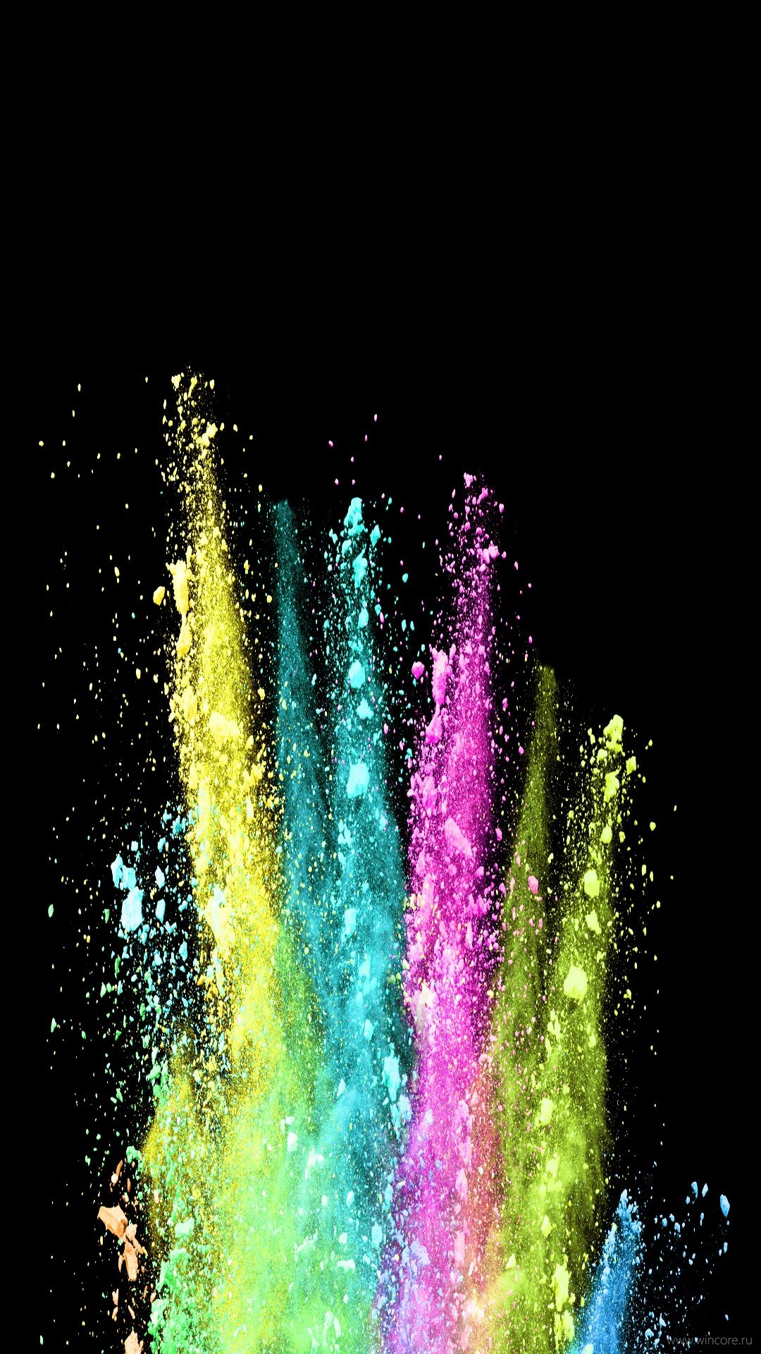 Download Mobile Wallpaper Colored Powder