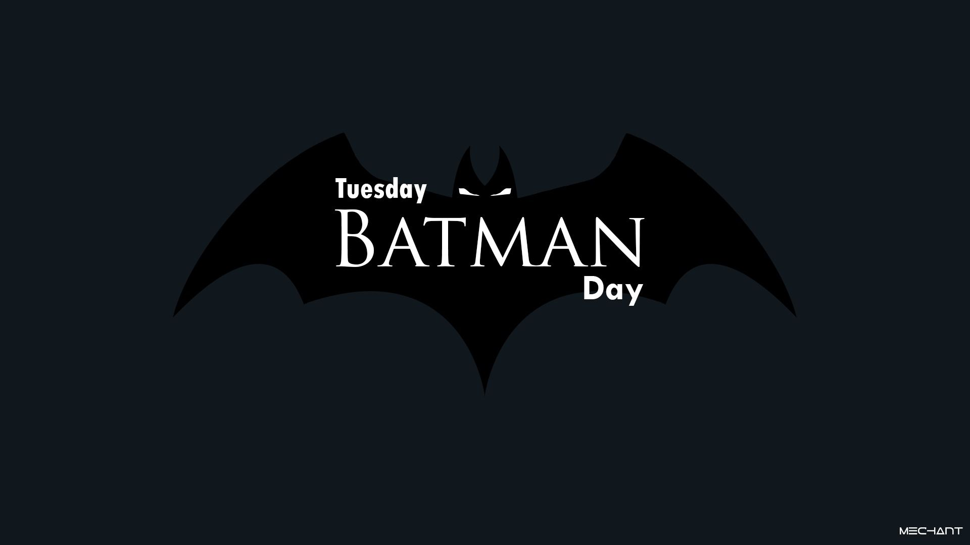 Download Wallpaper Minimalism, Logo, Day, Background, Batman, Day, Tuesday