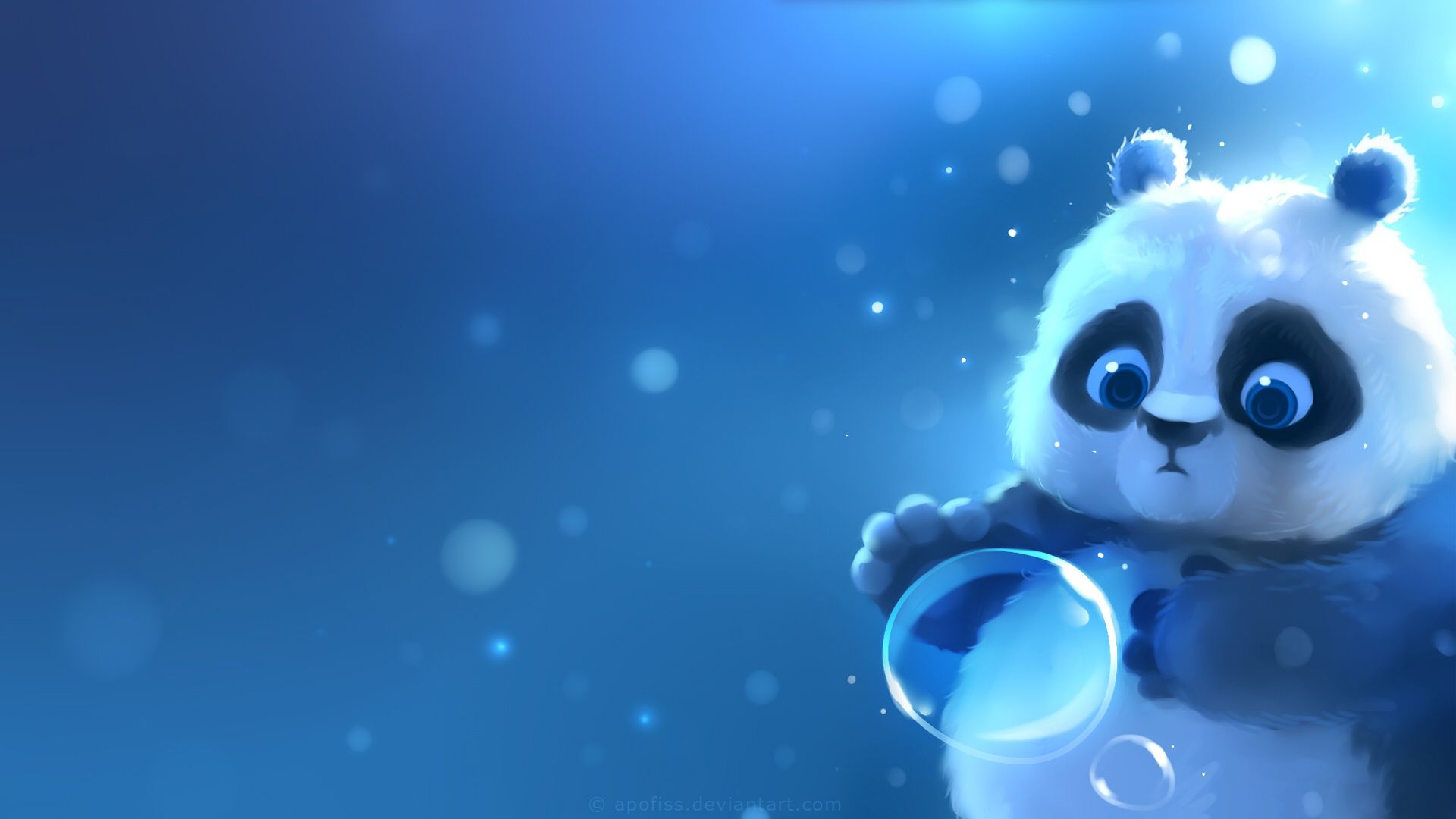 Download Wallpaper Panda, Bubble, By Apofiss, Section Painting