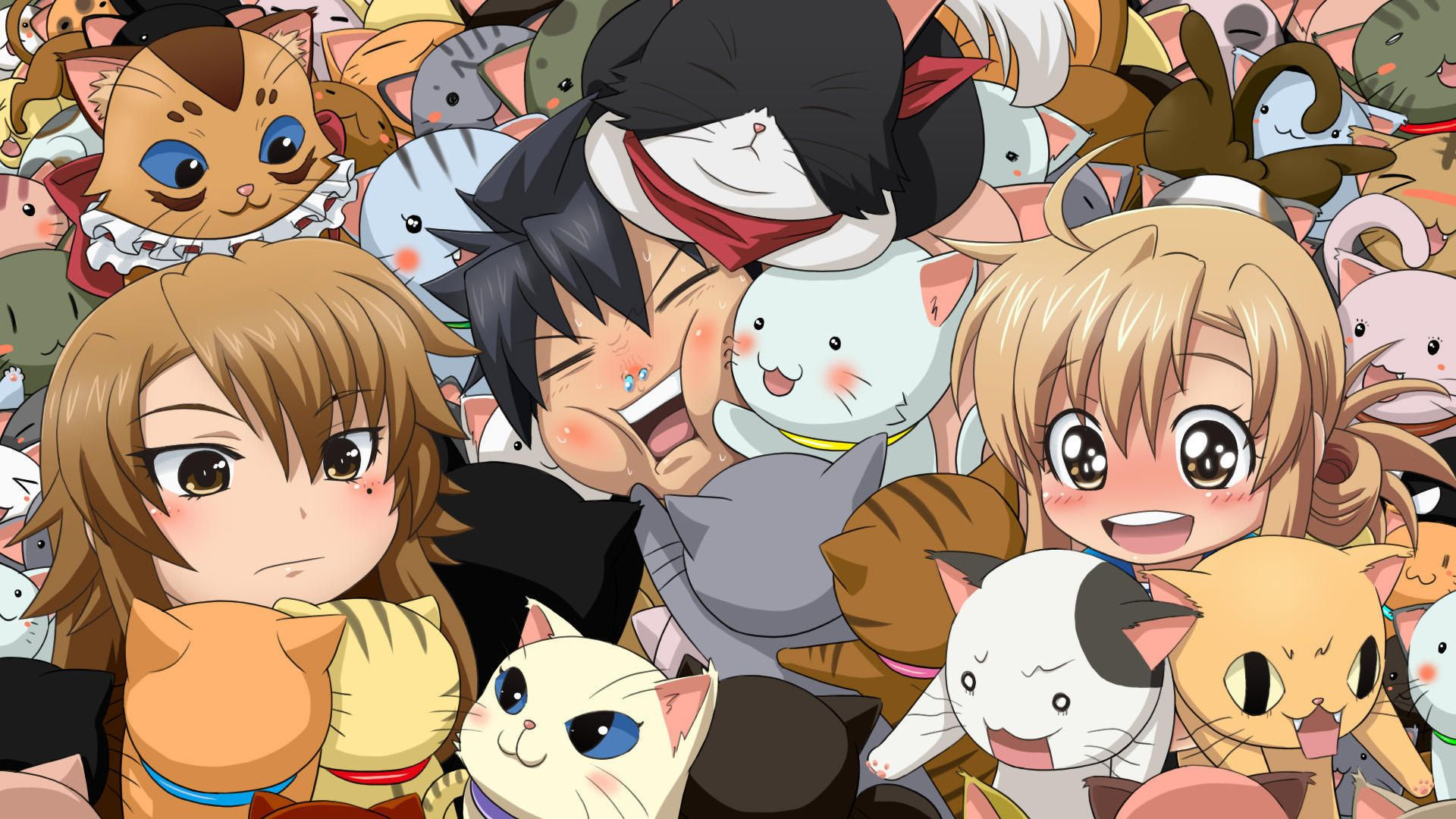 Download Wallpaper Cat, Anime, Art, Girl, Cataposs Whim, Section Other In