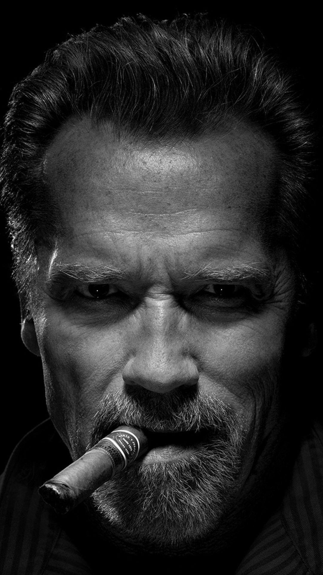 Downloadarnold Schwarzenegger, Actor, Beard, Monochrome, Face Po