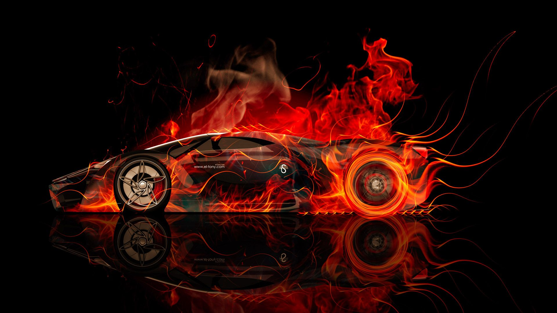 El Tony Fire Cars, Wallpaper Ferrari
