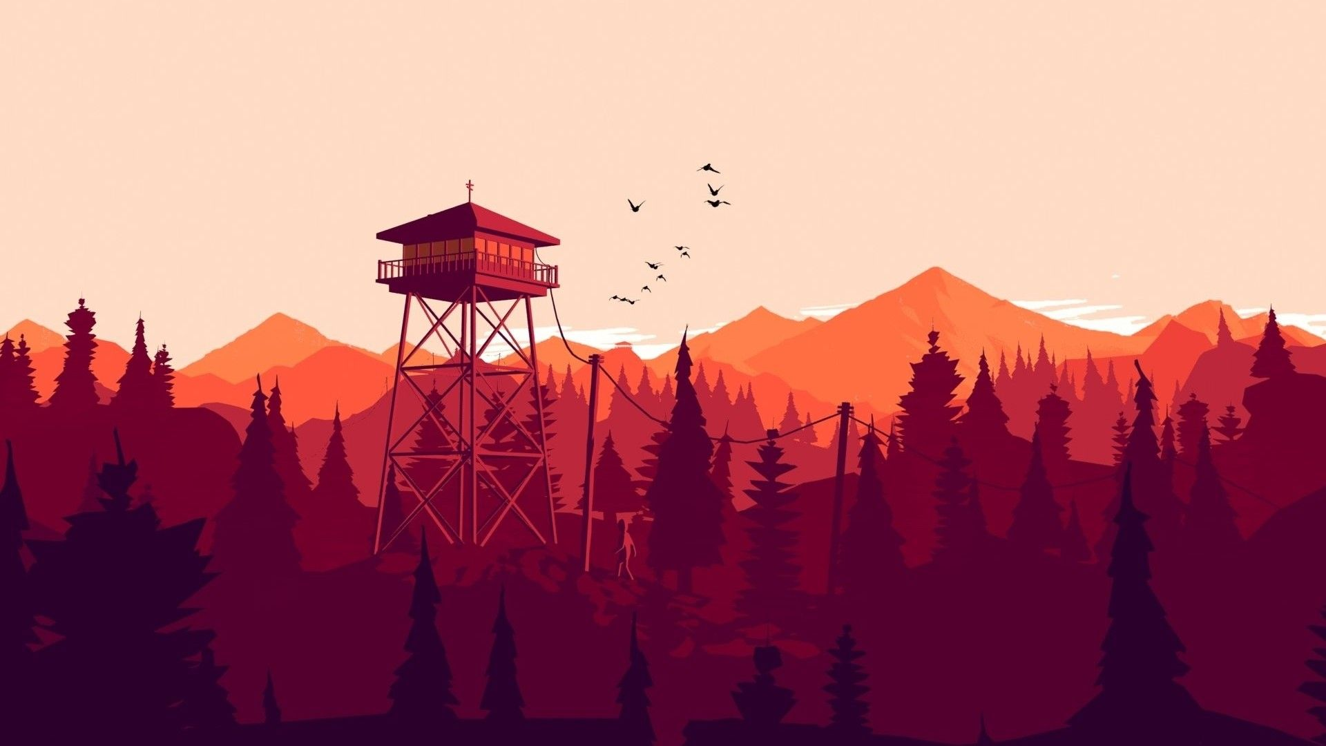 Firewatch Tower, Iphone Wallpapers