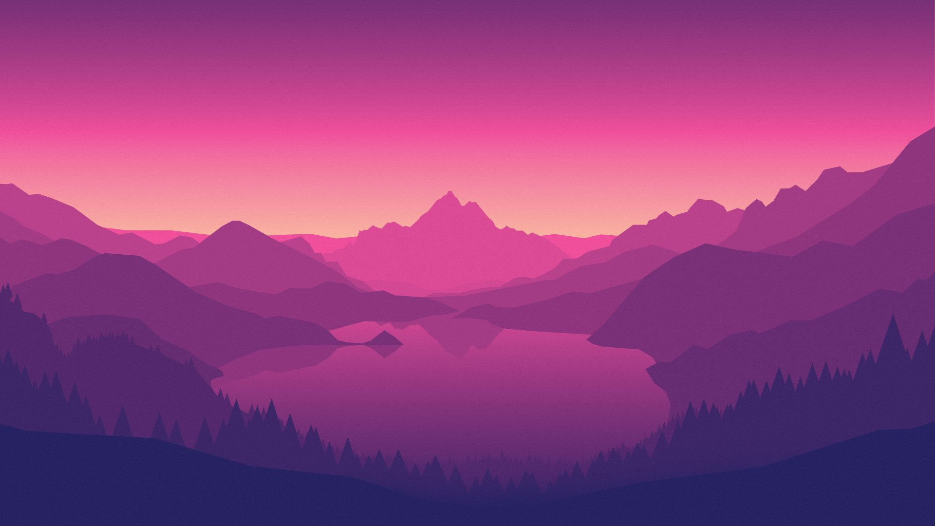 Firewatch Wallpaper, Wallpaper From The Game Purple