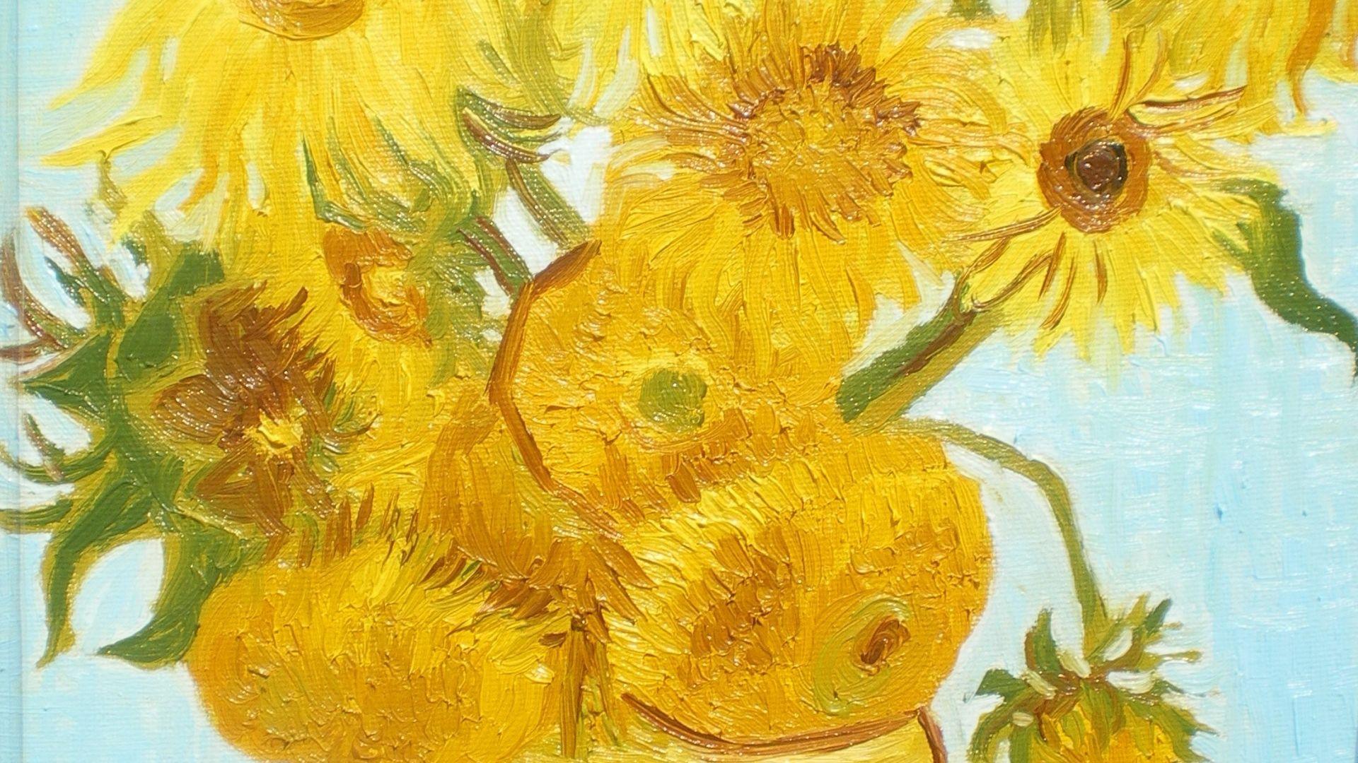 Free Van Gogh Sunflowers Wallpaper For Desktop