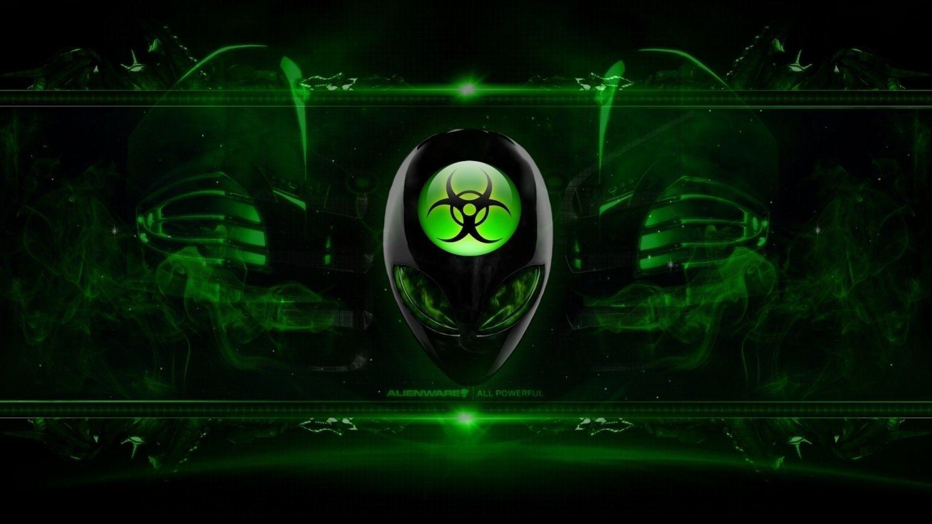 Green And Black Alienware Hd Wallpaper