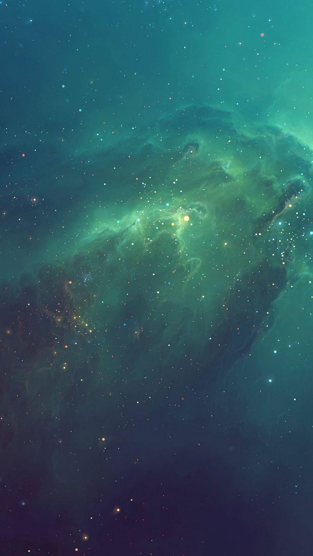 Green Starry Iphonesiphones Wallpaper