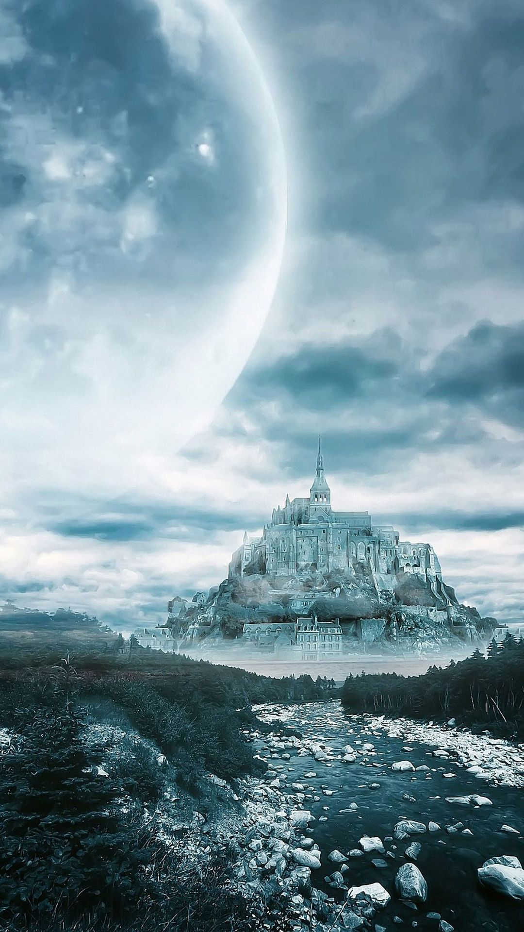 Hd Dream Moon Castle Wallpaper For Iphone S S Plus