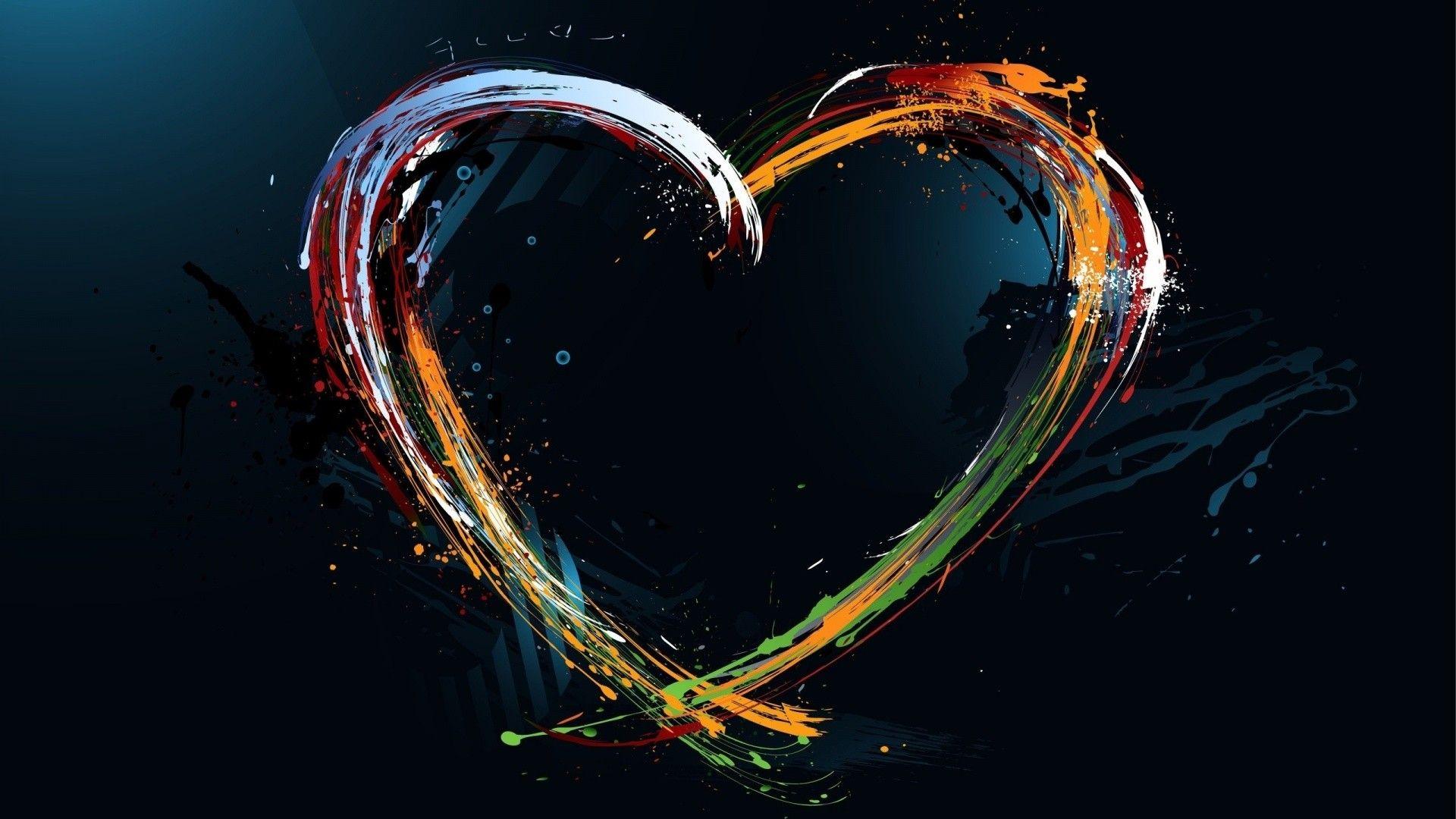Heart Abstract, Abstract Hearts