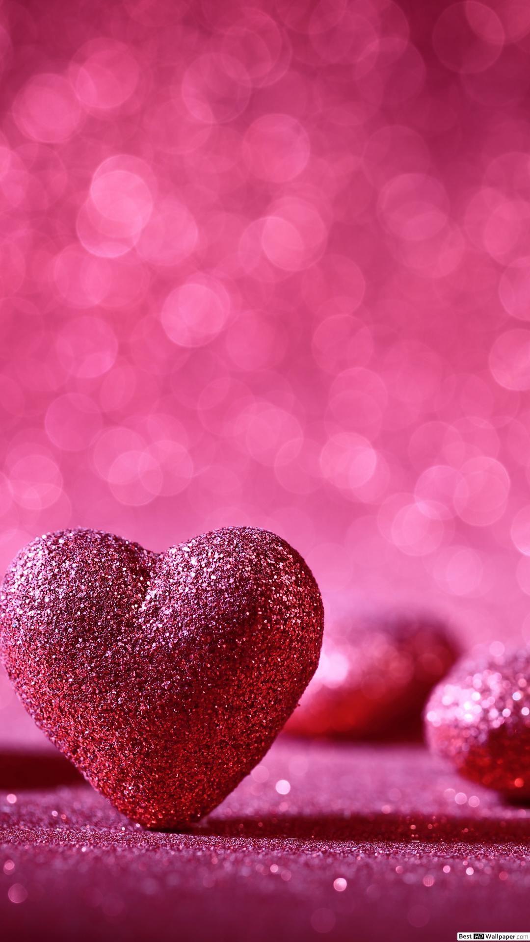 Huawei Mate Pink Heart Shape Wallpaper Download