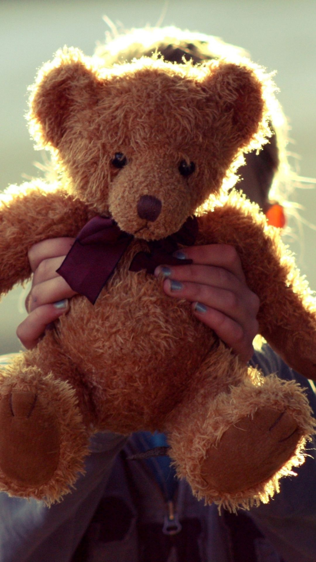 I Love My Teddy Wallpaper For Iphone Plus