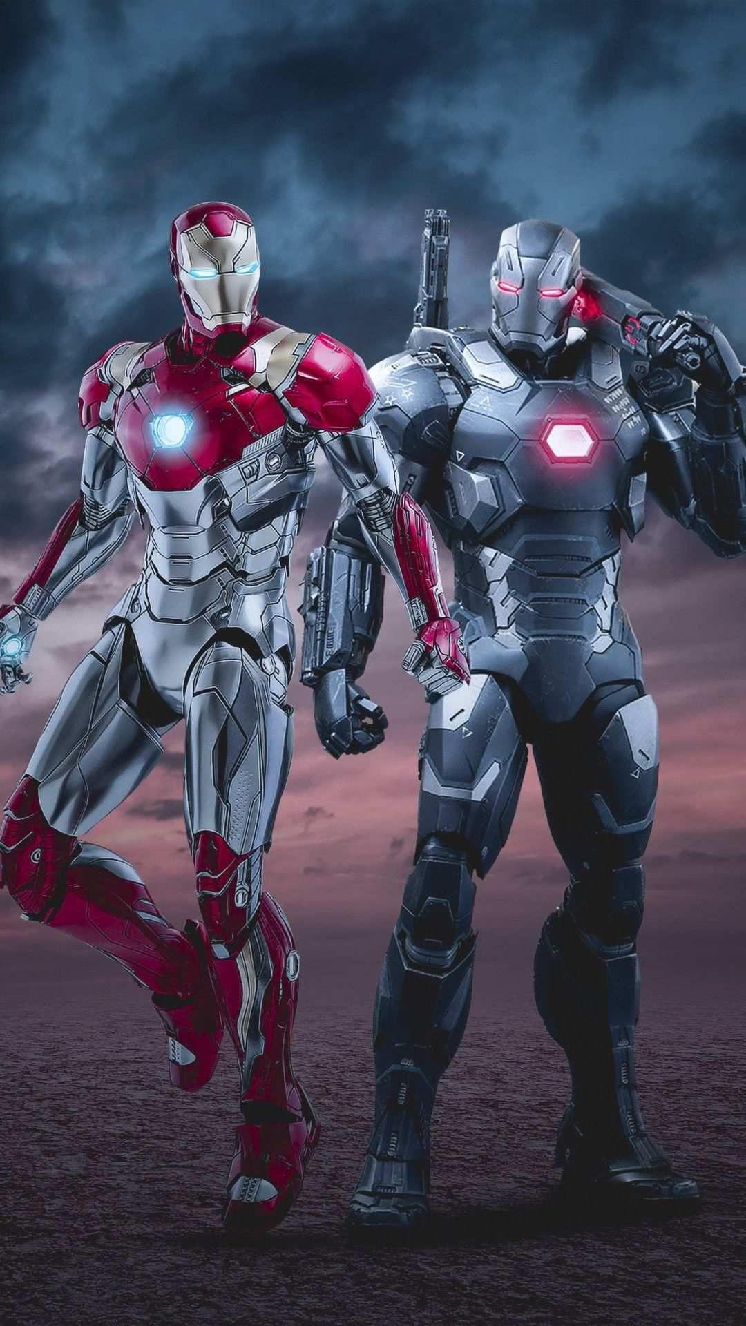 Iron Man With War Machine Iphone Wallpaper