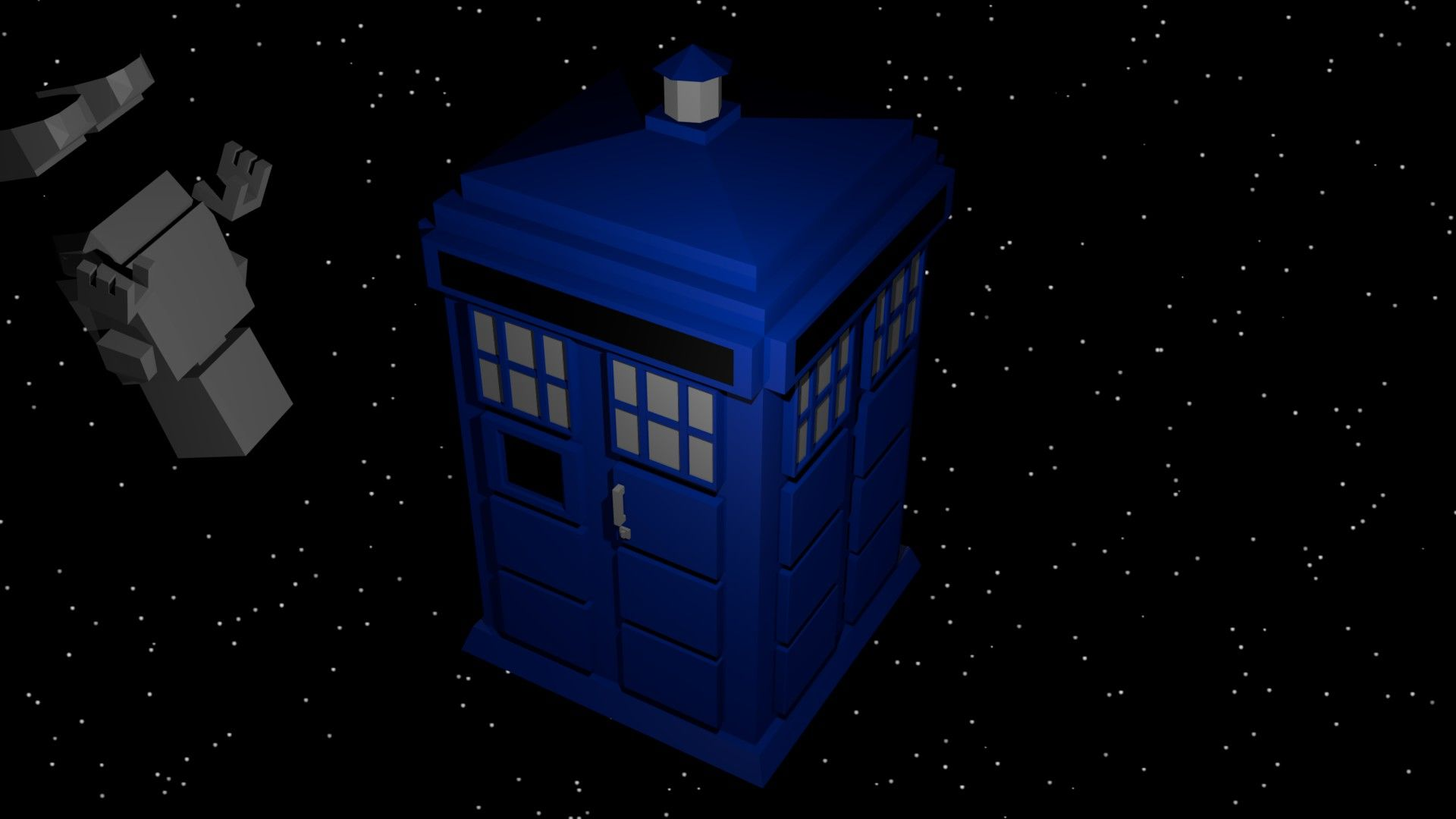 It Has The Roof Of The New Tardis, But The Black Background For The Signs L( )