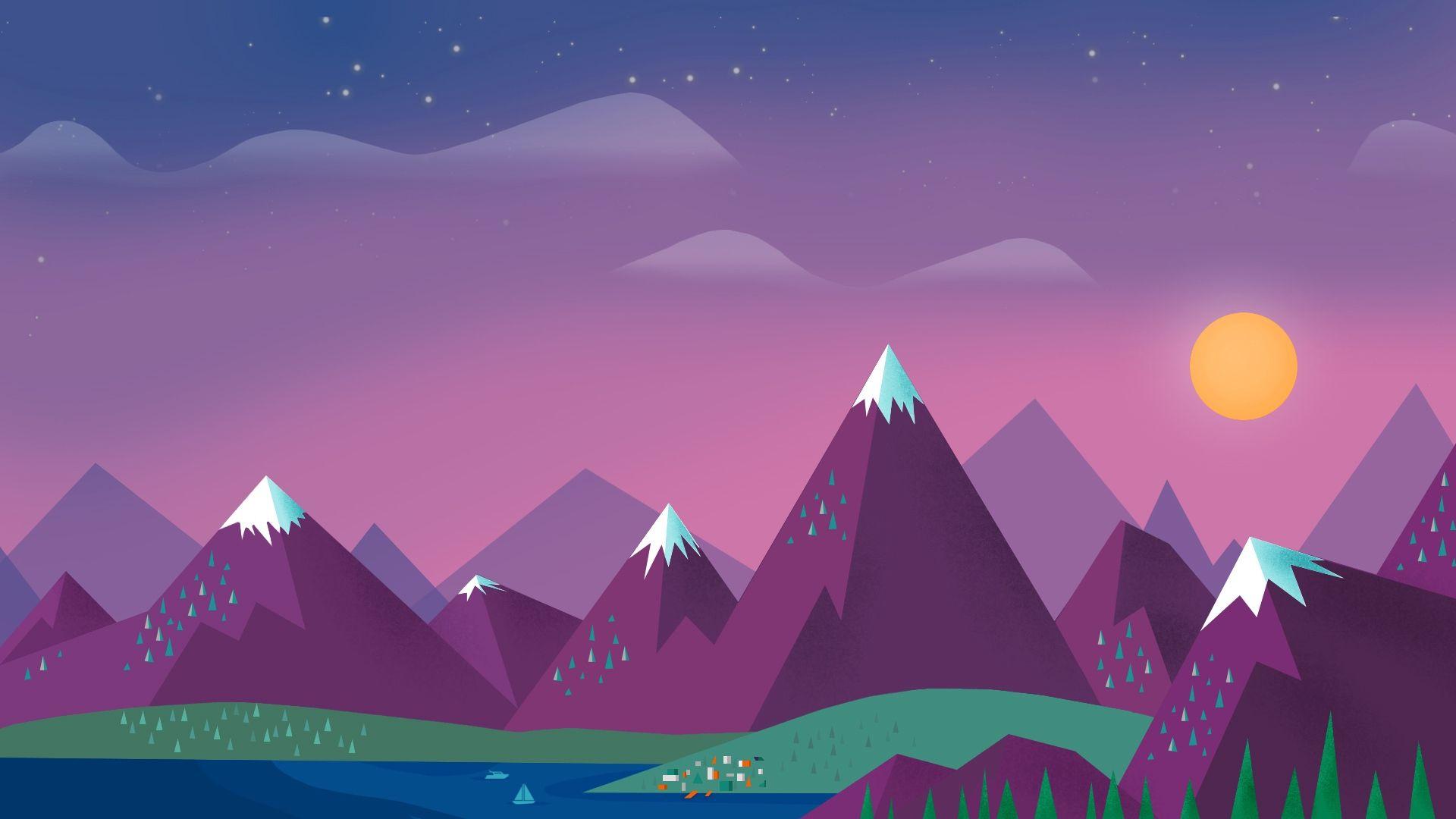 Landscape Background, Minimalism