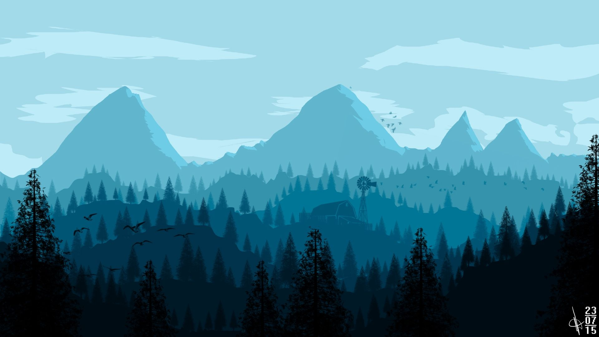 Landscapes Firewatch, Firewatch Wallpaper