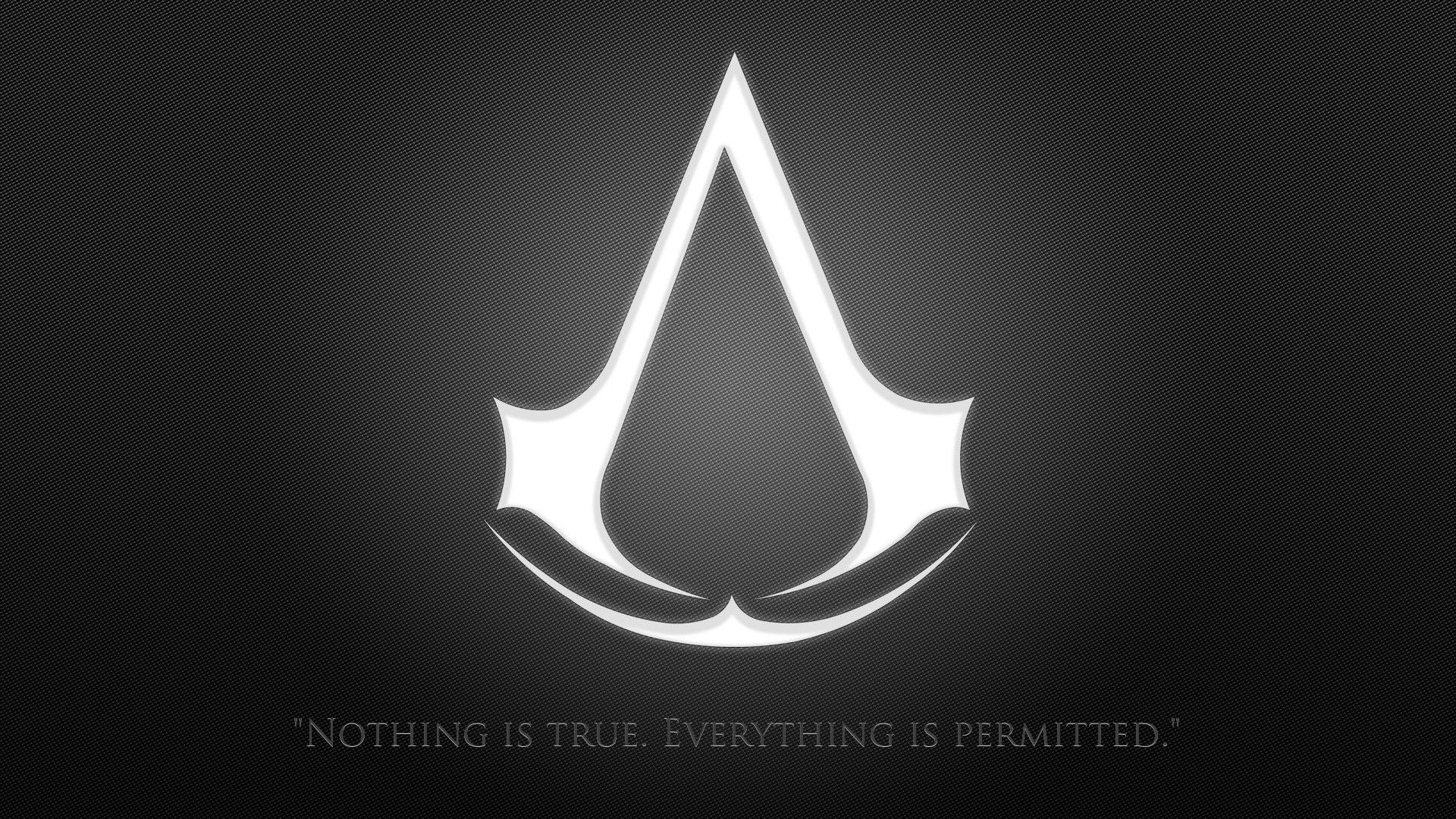 Logo Wallpaper, Assassin's Creed, Merrick, Symbol, Jumlah, Dan Hitam Putih