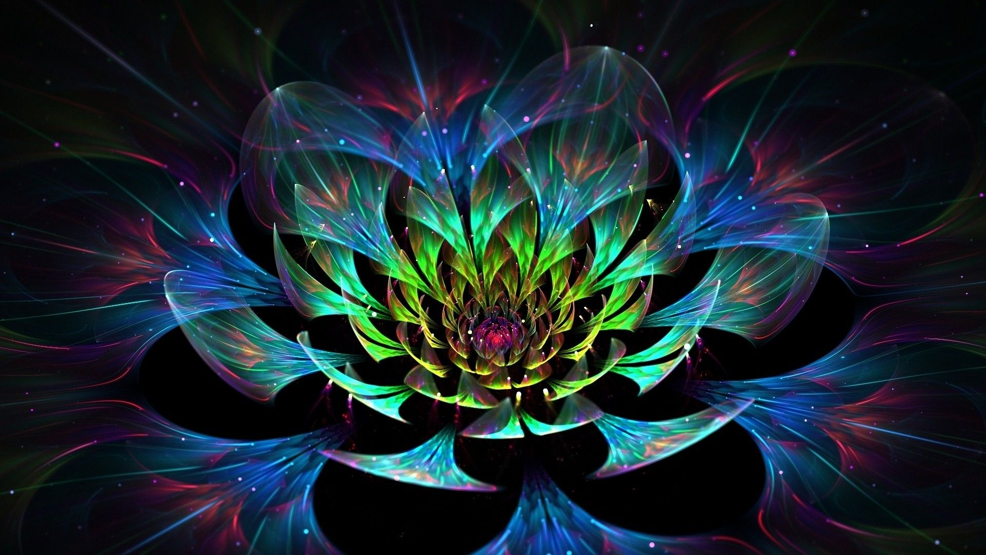 Lotos Abstraction, Fractal Graphics Flowers