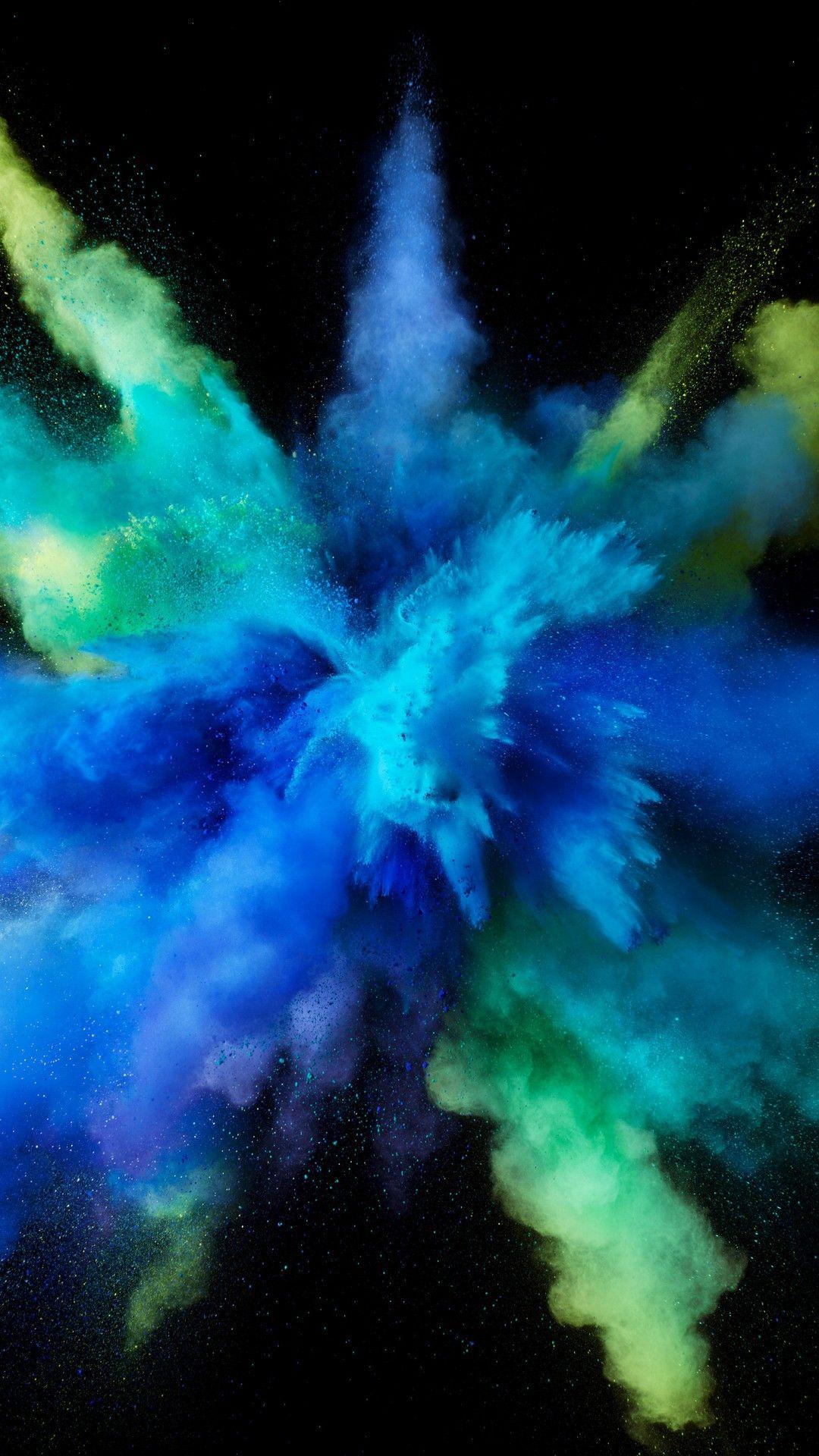 Mac Os Sierra Color Splash Blue Hd Wallpaper