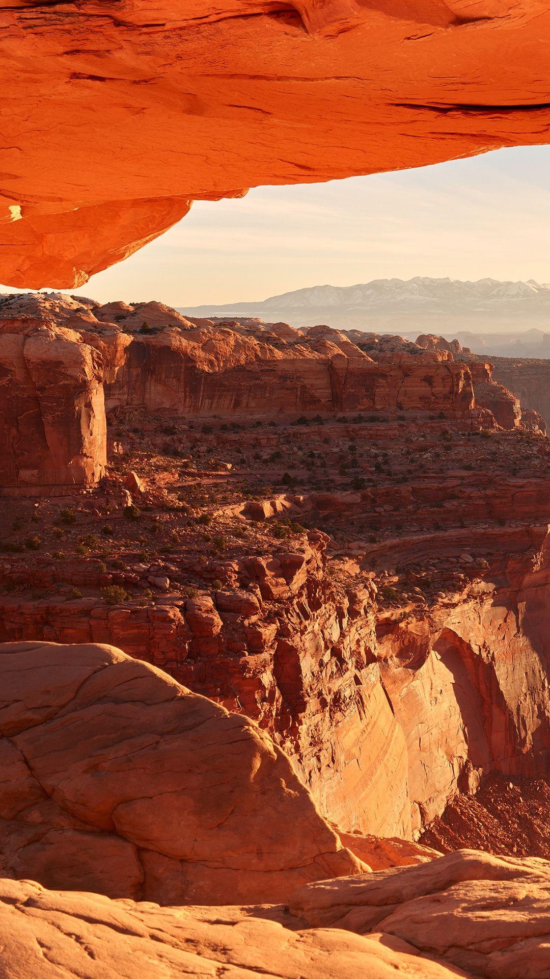 Mesa Arch Canyon National Park Badlands Rock Butte Park