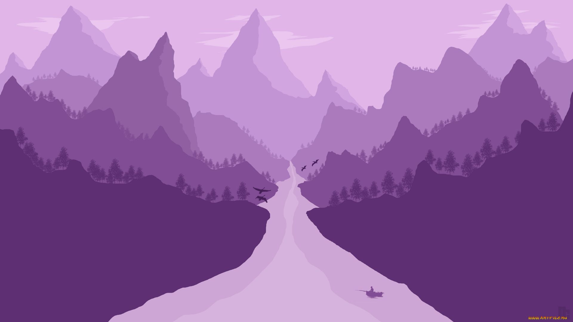 Minimalism Mountains, Mountains Vector
