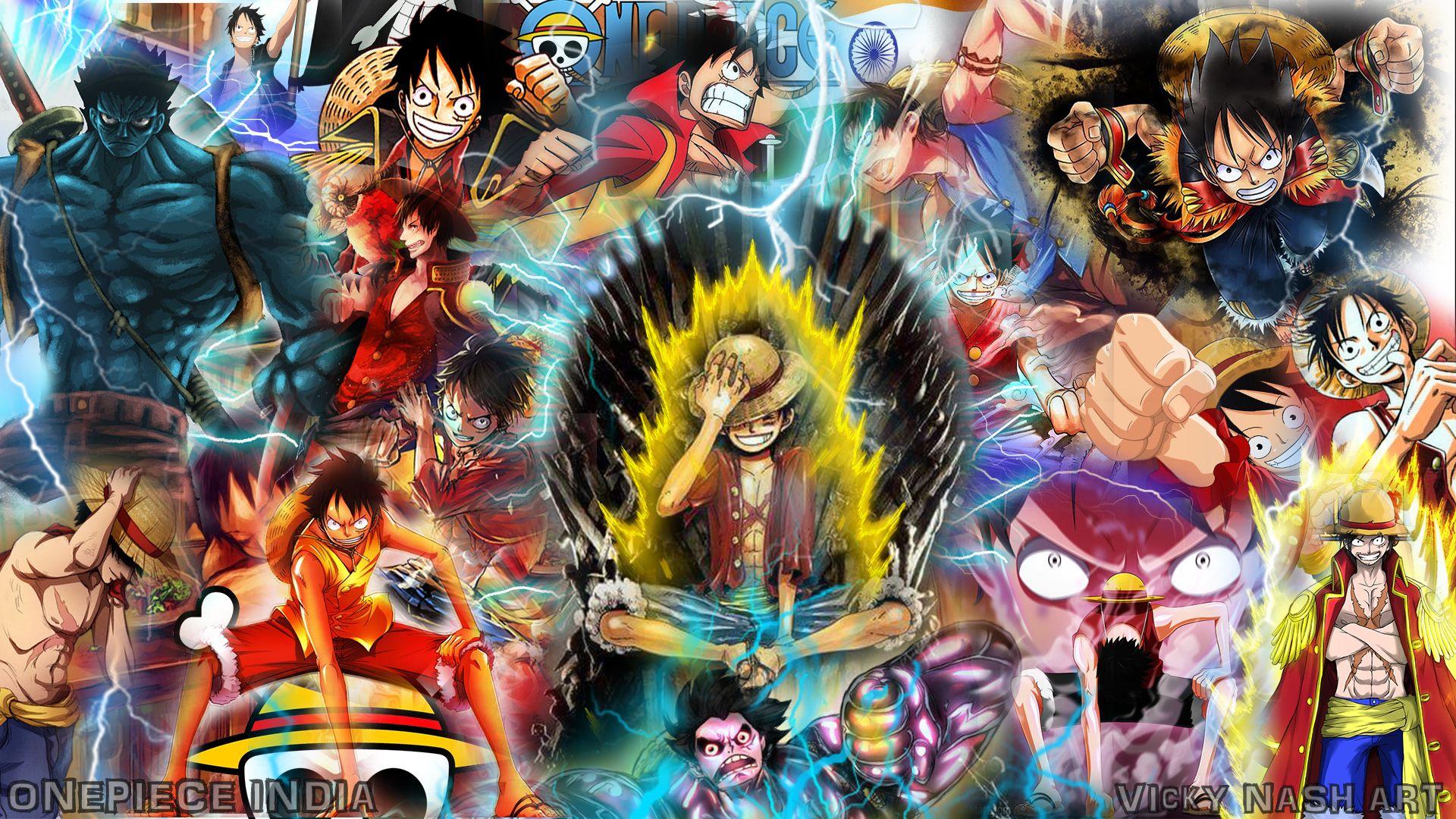 Goku Naruto Luffy Wallpaper