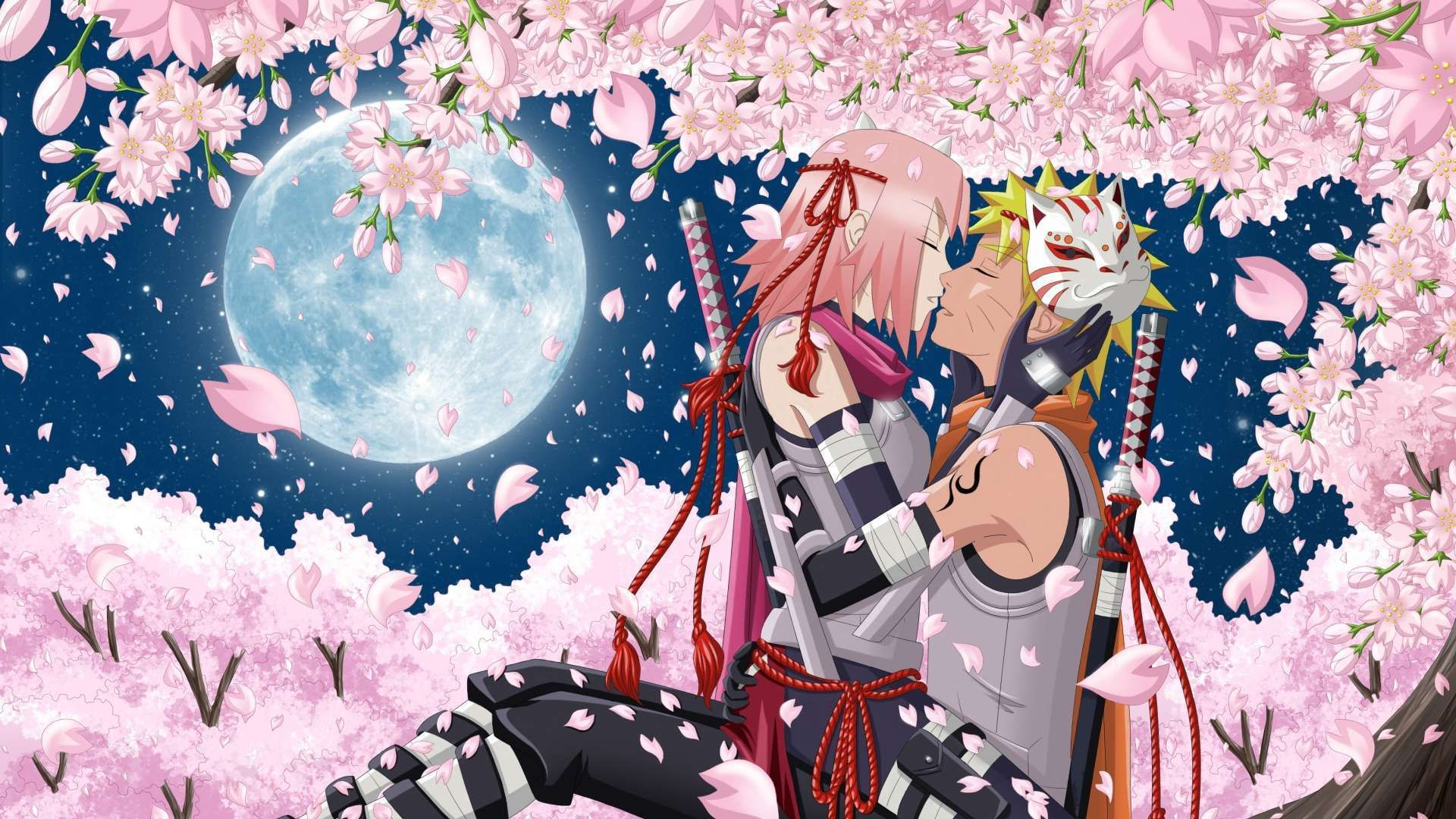 24 Anime Cherry Blossom Wallpapers Wallpaperboat