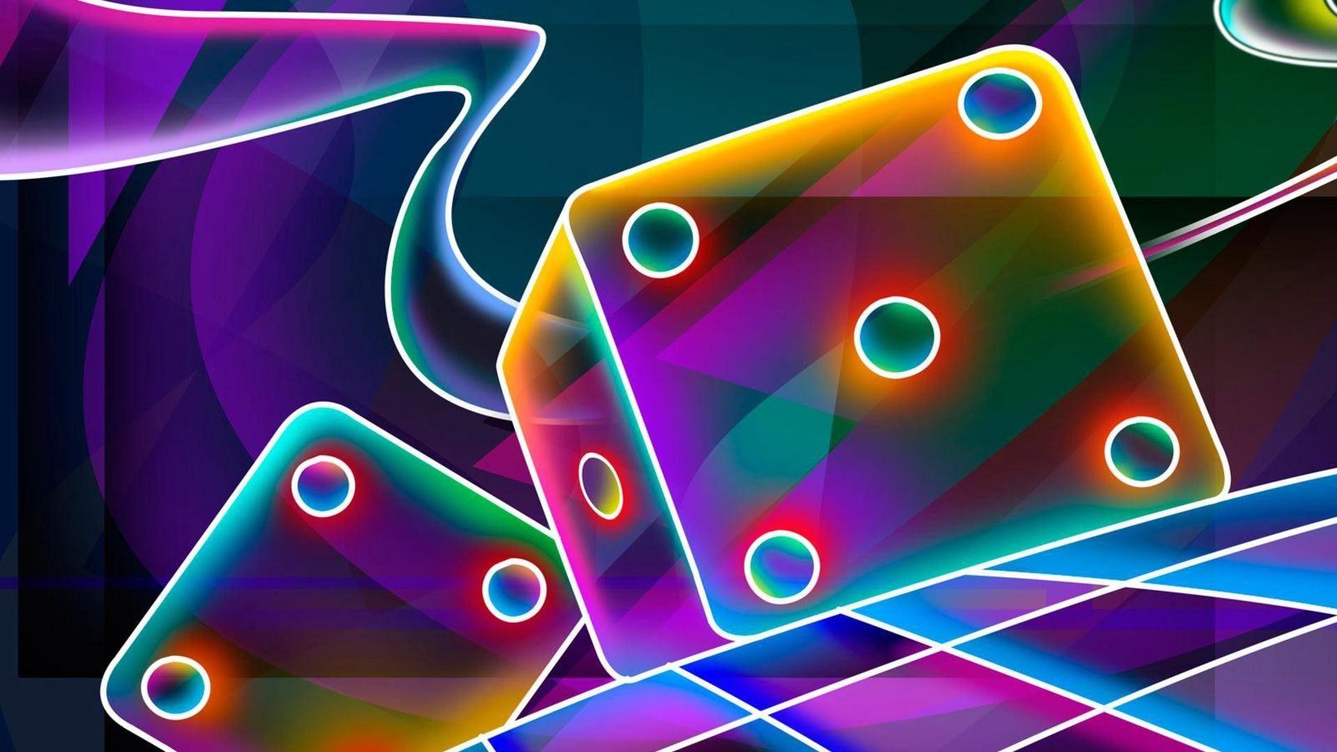Neon Wallpaper, 3d