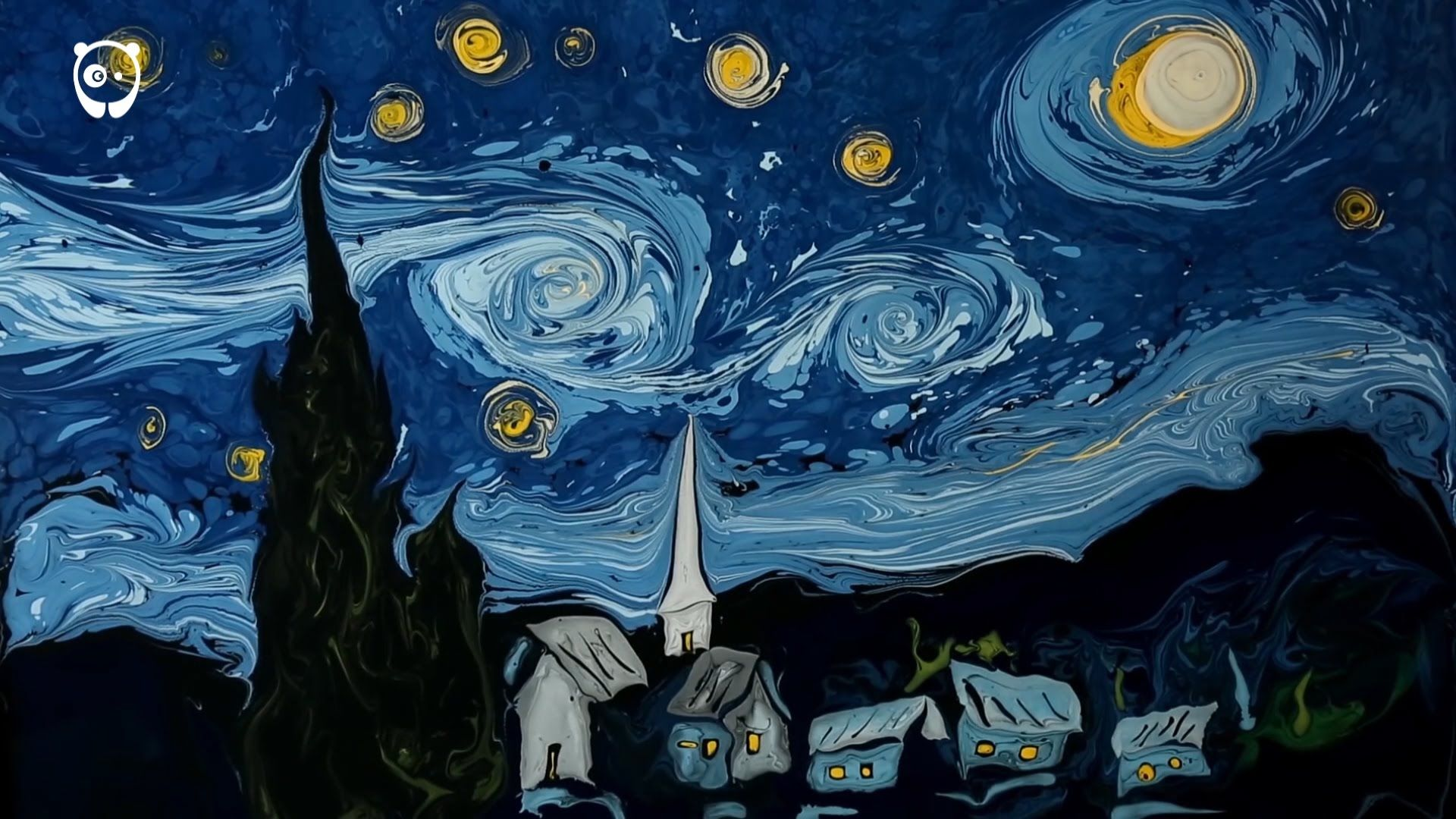 On The First Painting, It Make The Replication Of Van Goghs Paintings Are Of