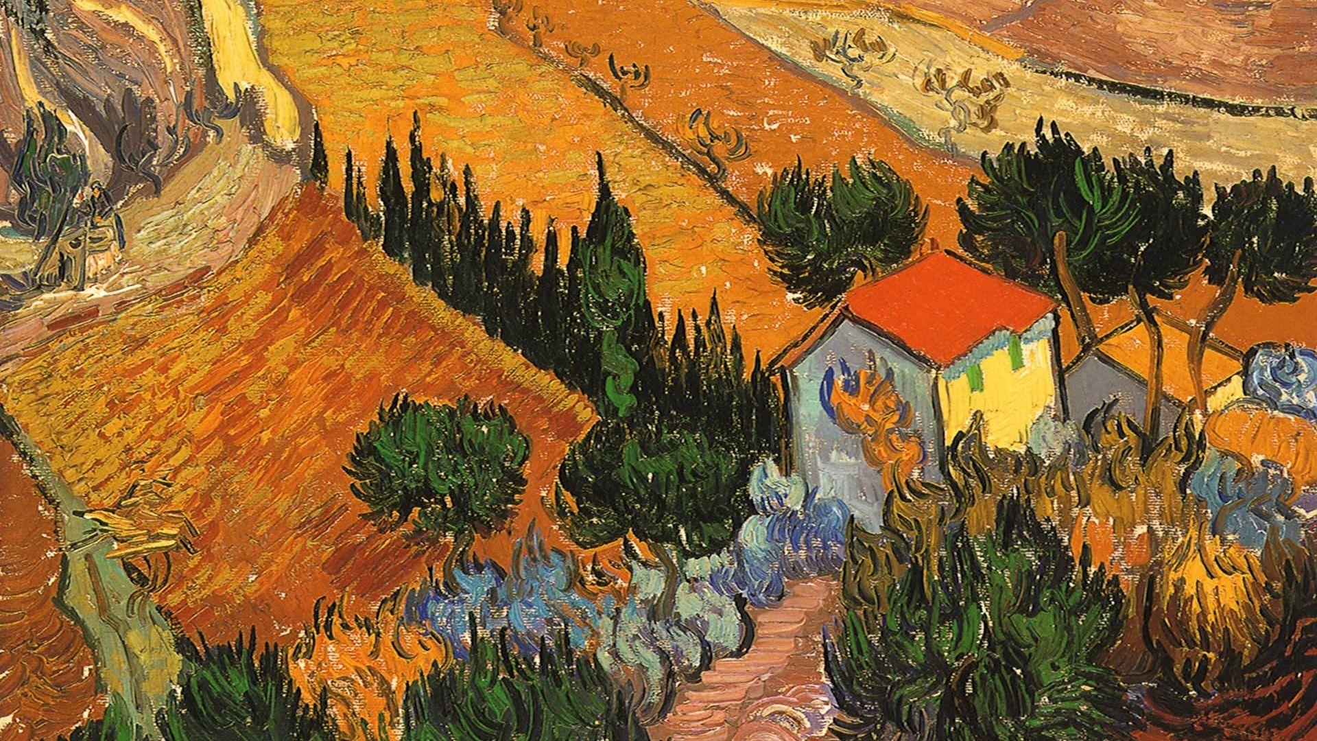 Paintings, Ploughman, House, Landscape, Artwork, Vincent Van Gogh, Postimpr