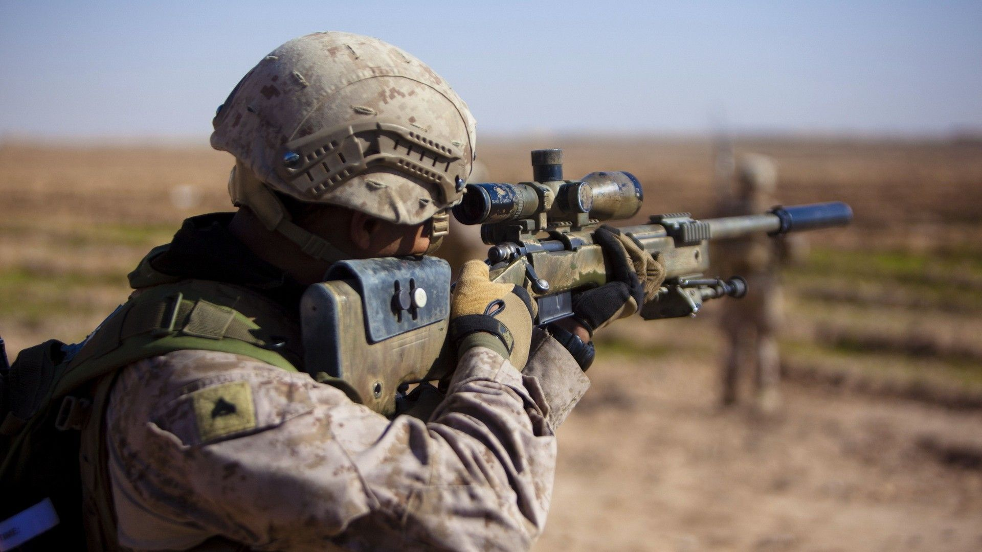 Photos Soldier, Rifle, Sight, Sniper, Helmet, Gloves, Weapons