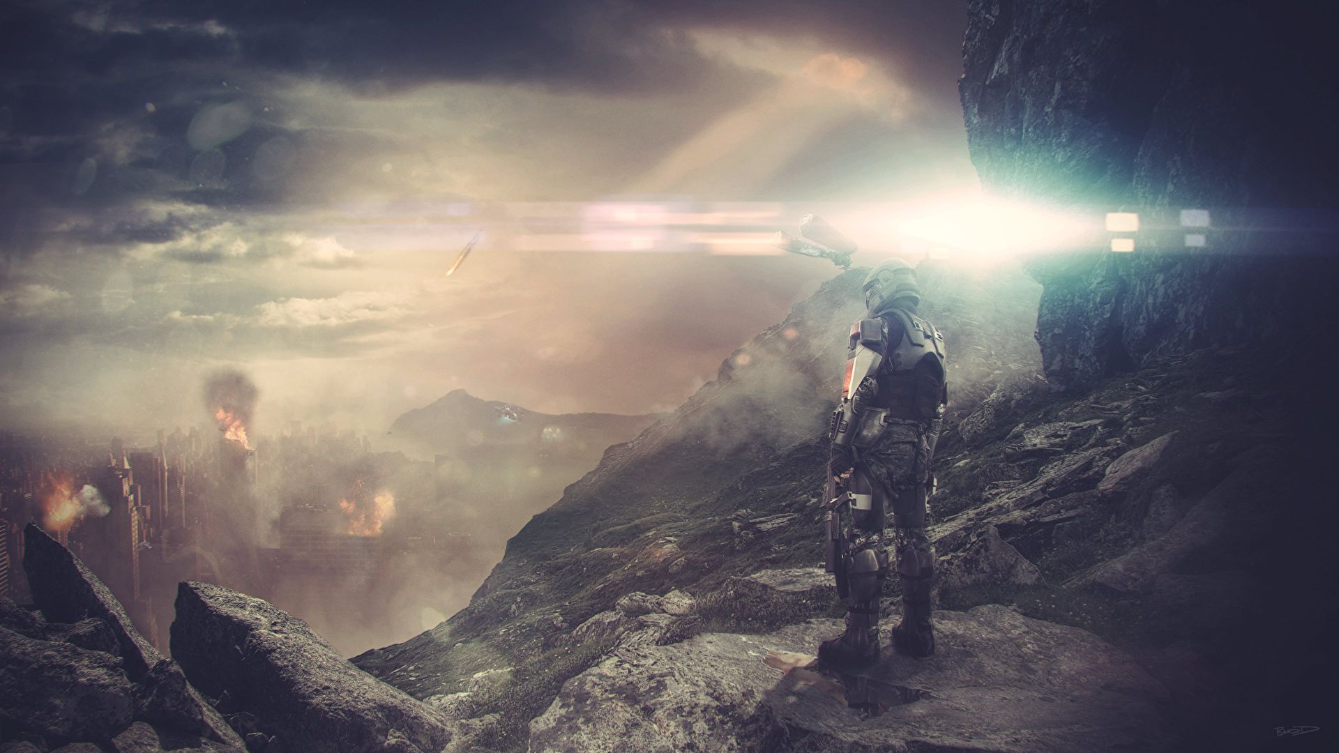 Picture Halo Guardians Halo Soldiers Warriors Helmet Games Fantasy X