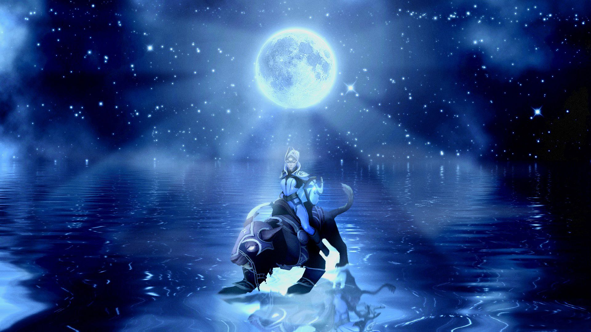 Pictures Dota Moon Warriors Fantasy Game Moon Magical Animals Luna Warrior