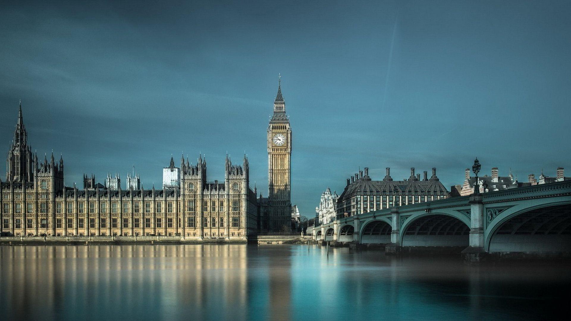 Pictures London, England, Bridge, River, Buildings, Watch, Sky, Beauty, City Mi