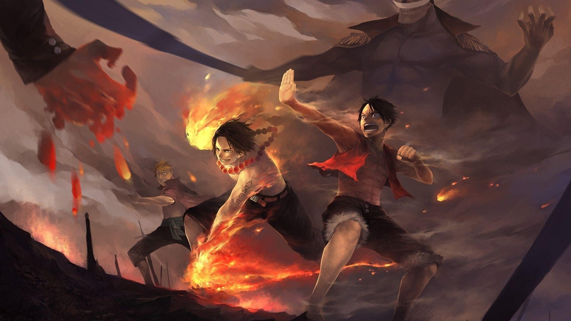 Portgas D Ace And Edward Newgate, Luffy Art Fire