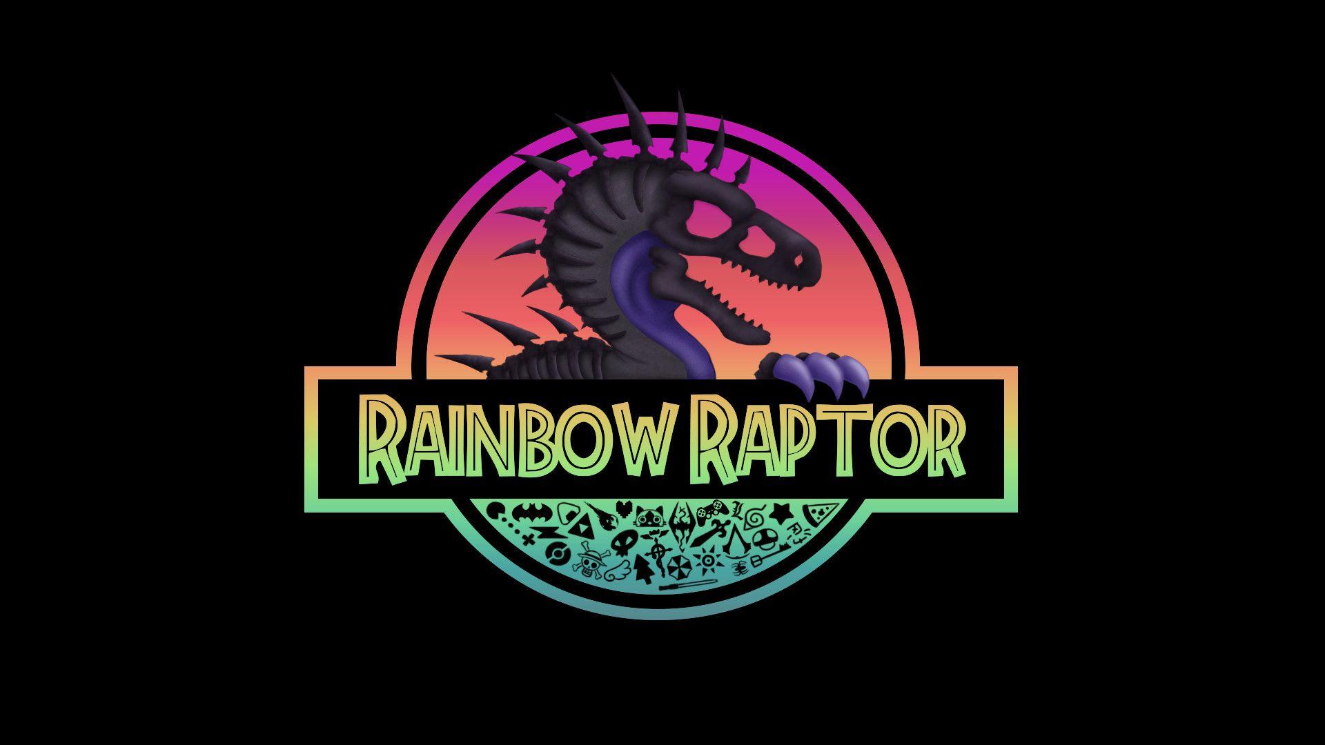 Redfox Inuzuka Rainbow Raptor Logo Jurassic Park