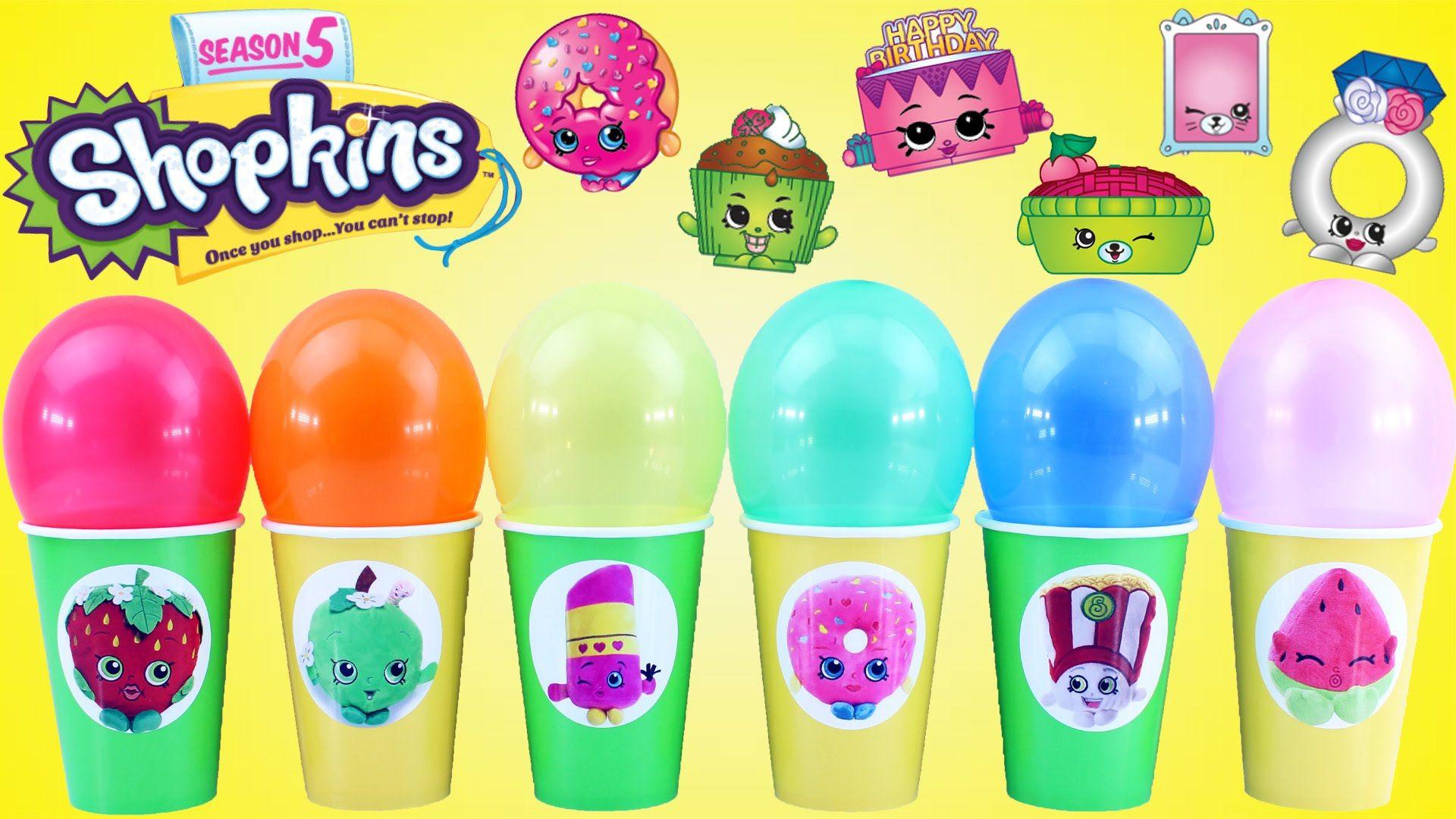 Shopkins Surprise Toy Balloon Cups Blind Bags Season