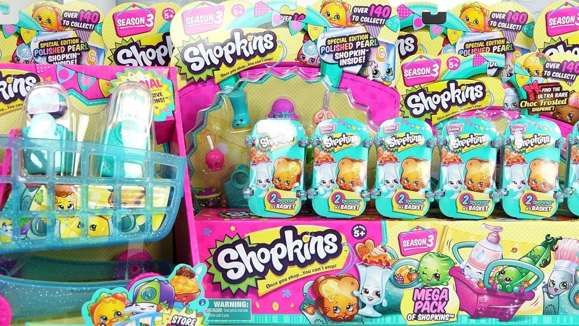 Shopkins Season Mega Pack Packs Blind Baskets Unboxing Buenos Proyecto