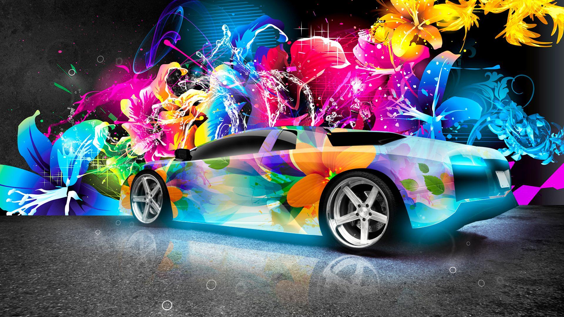 Stylish Bright Car Wallpaper Neon Cars